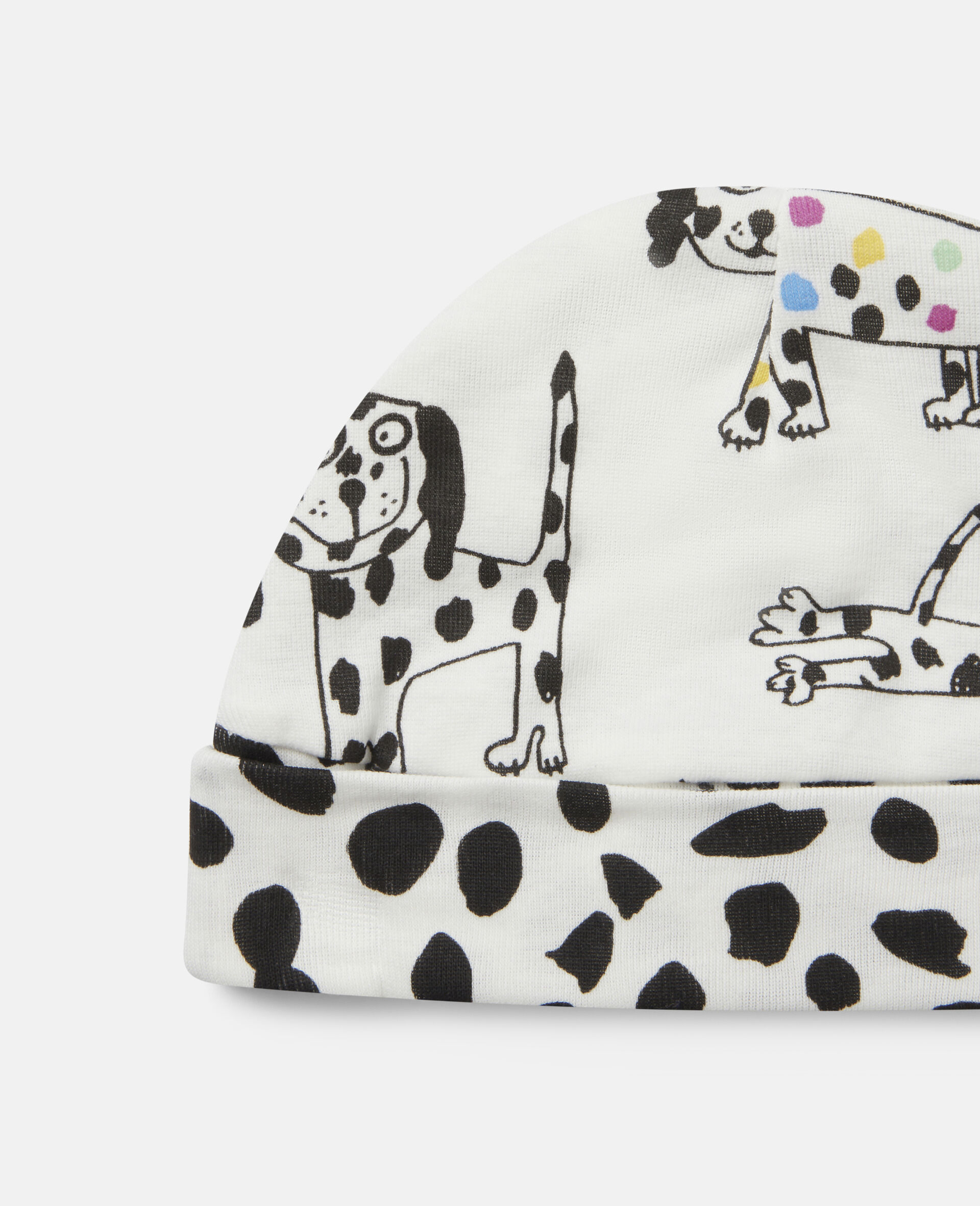 Dalmatian Jersey Rib Maternity Set-White-large image number 2