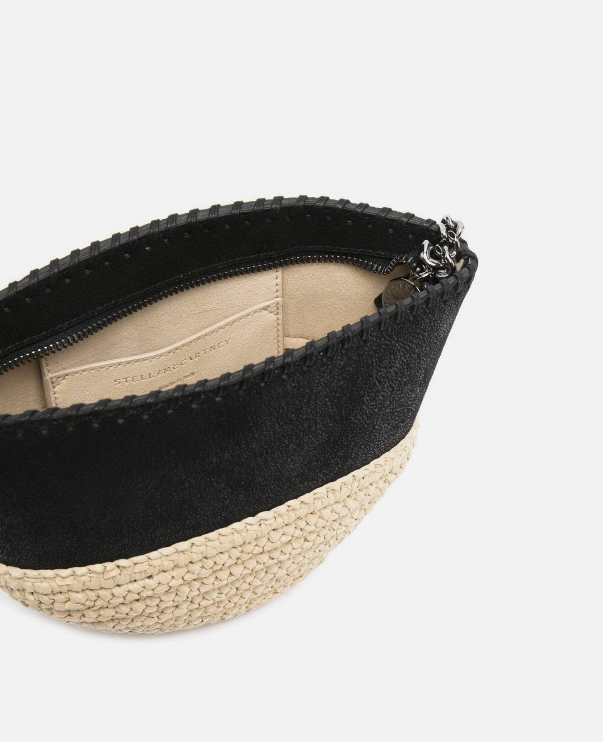Falabella Raffia Mini Shoulder Bag  -Black-large image number 2