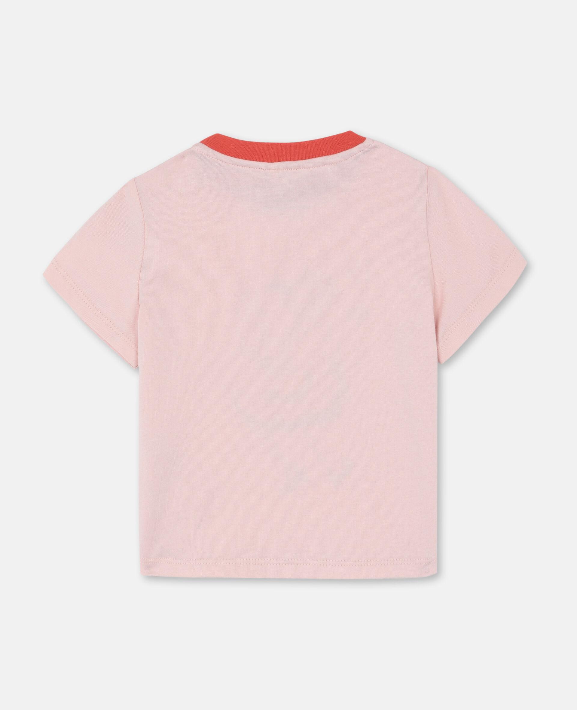 T-shirt en coton à motif flamant rose dansant-Rose-large image number 3