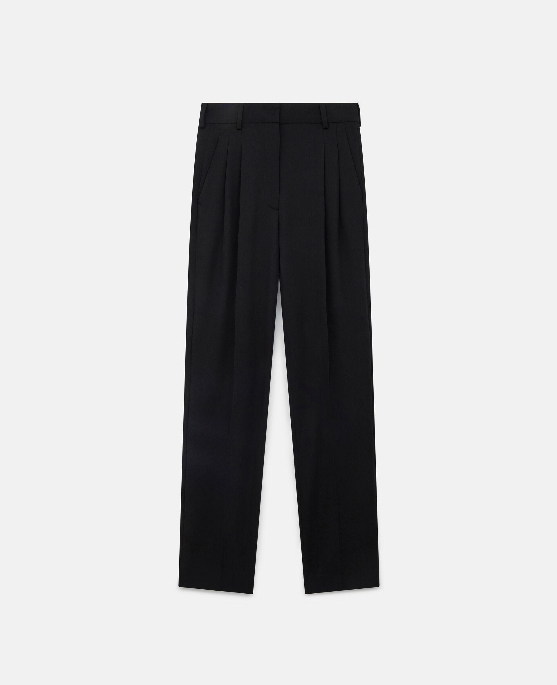 Pantaloni Lara in Lana-Nero-large image number 0