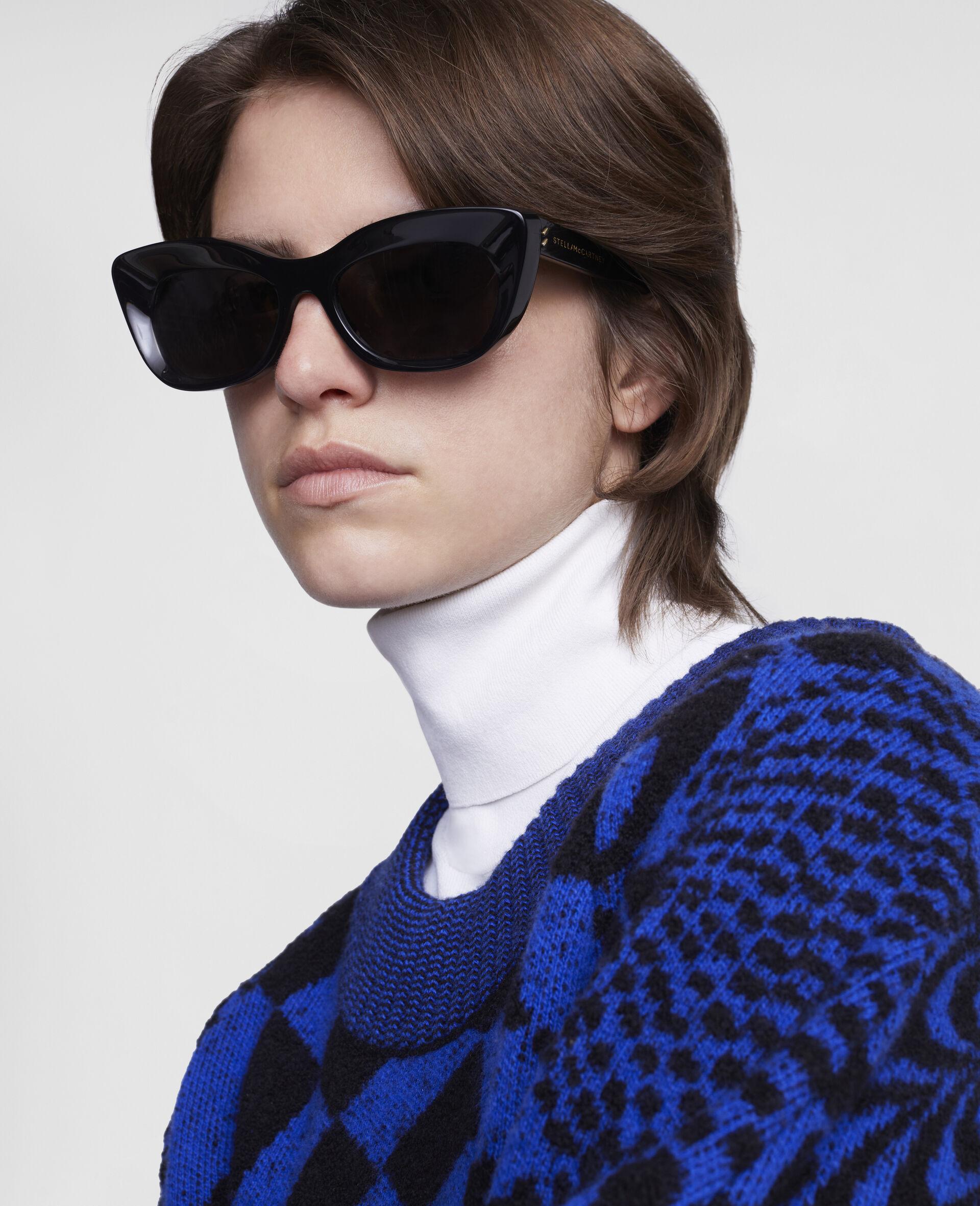 Cat-Eye Sunglasses-Black-large image number 2
