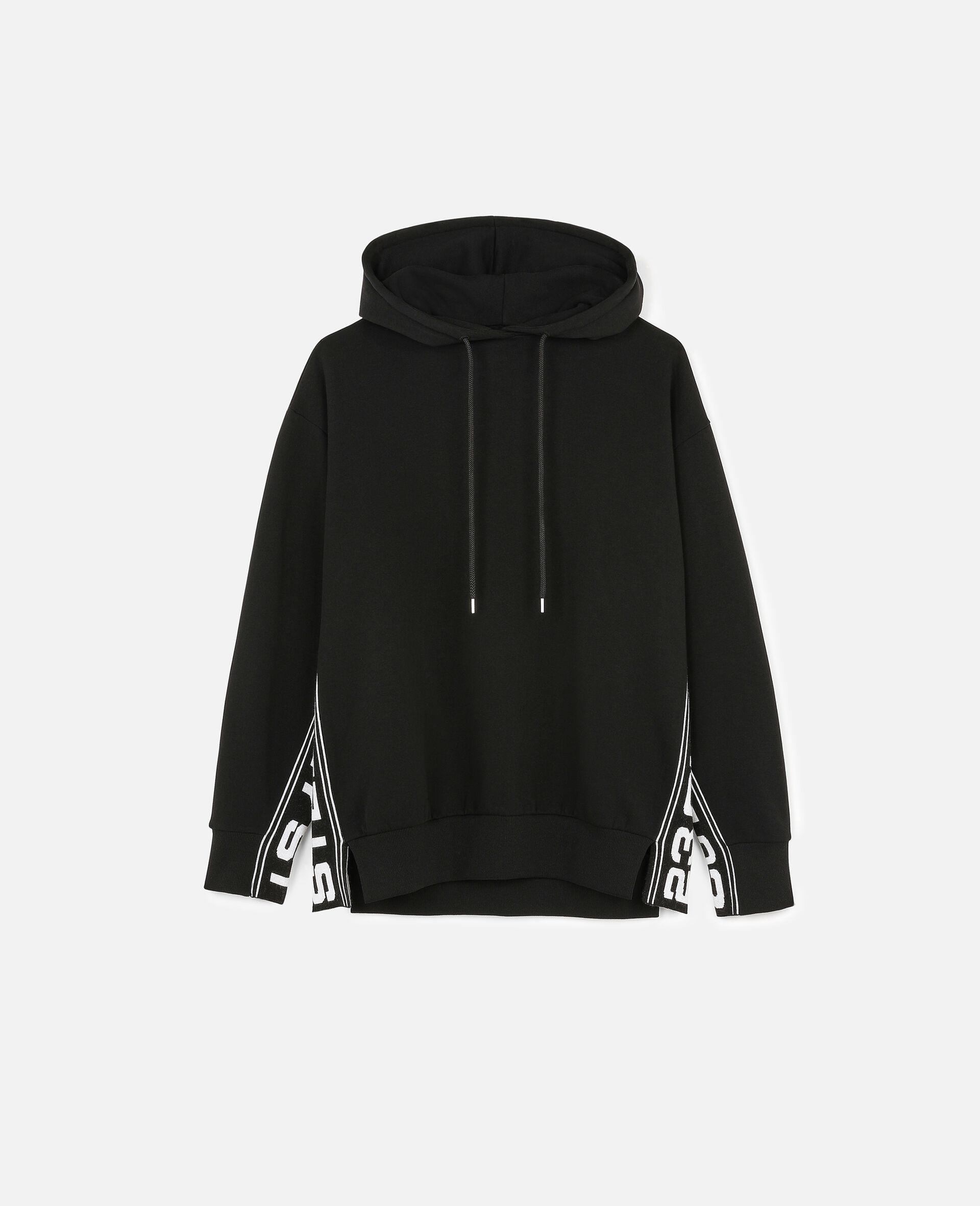 Sweat-shirt à capuche 23 OBS en maille-Noir-large image number 0
