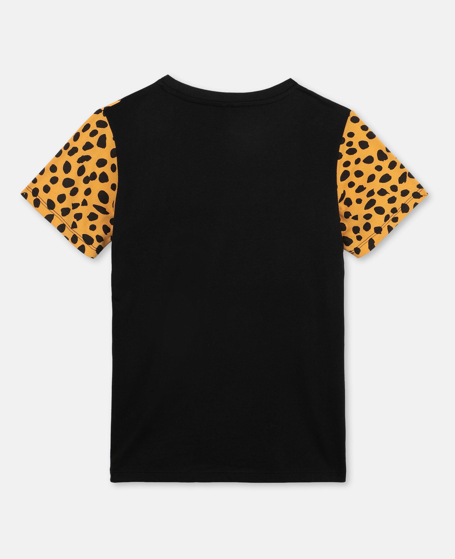 Cheetah Cotton T-shirt-Black-large image number 3