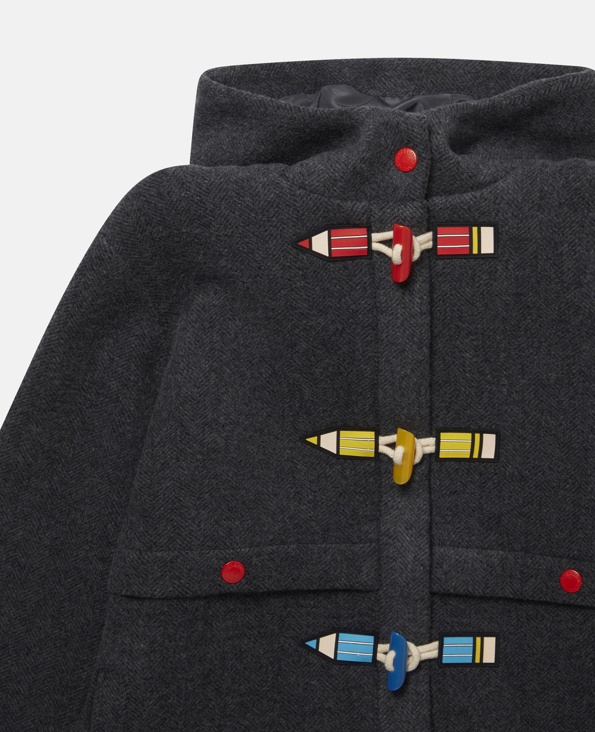 Pencils Toggle Wool Coat -Grey-large image number 1