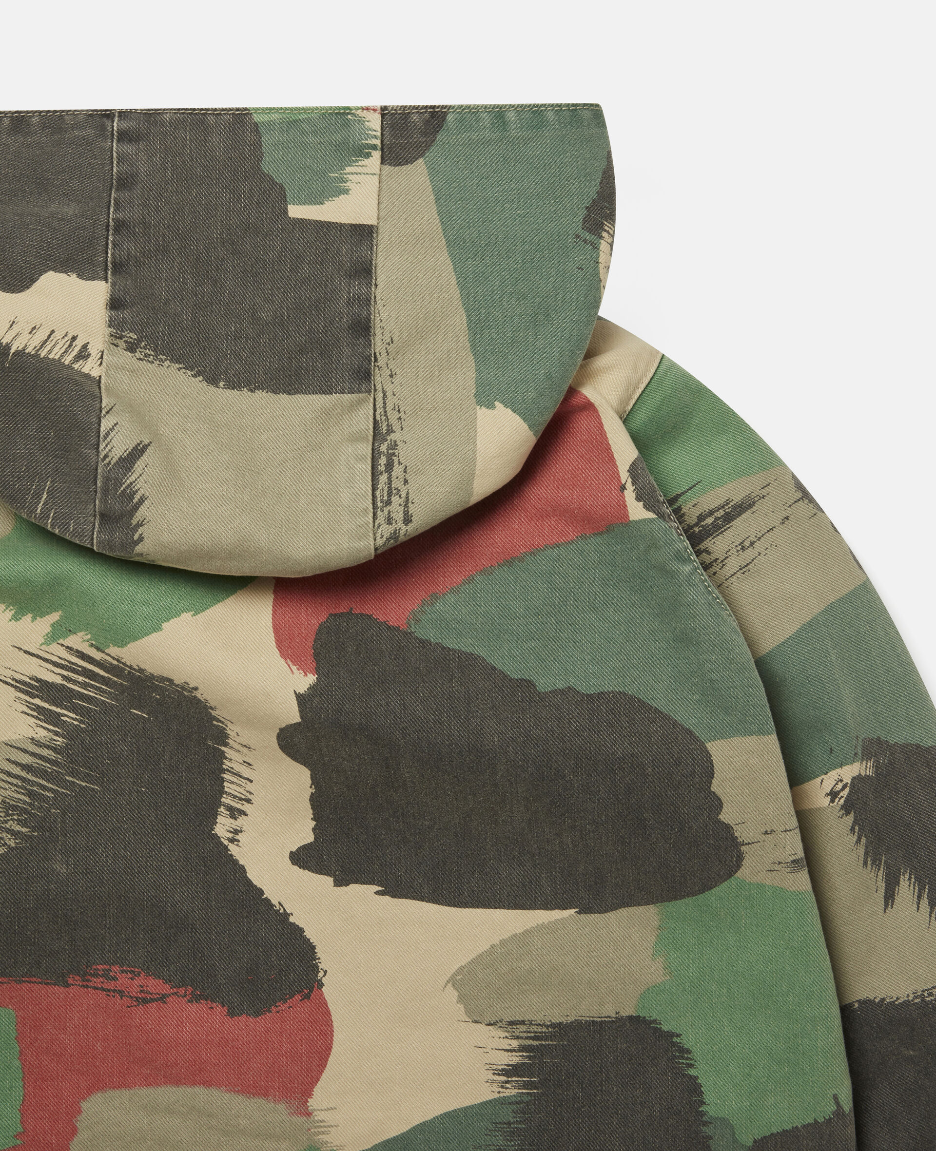 Camouflage Denim Parka-Multicolour-large image number 2