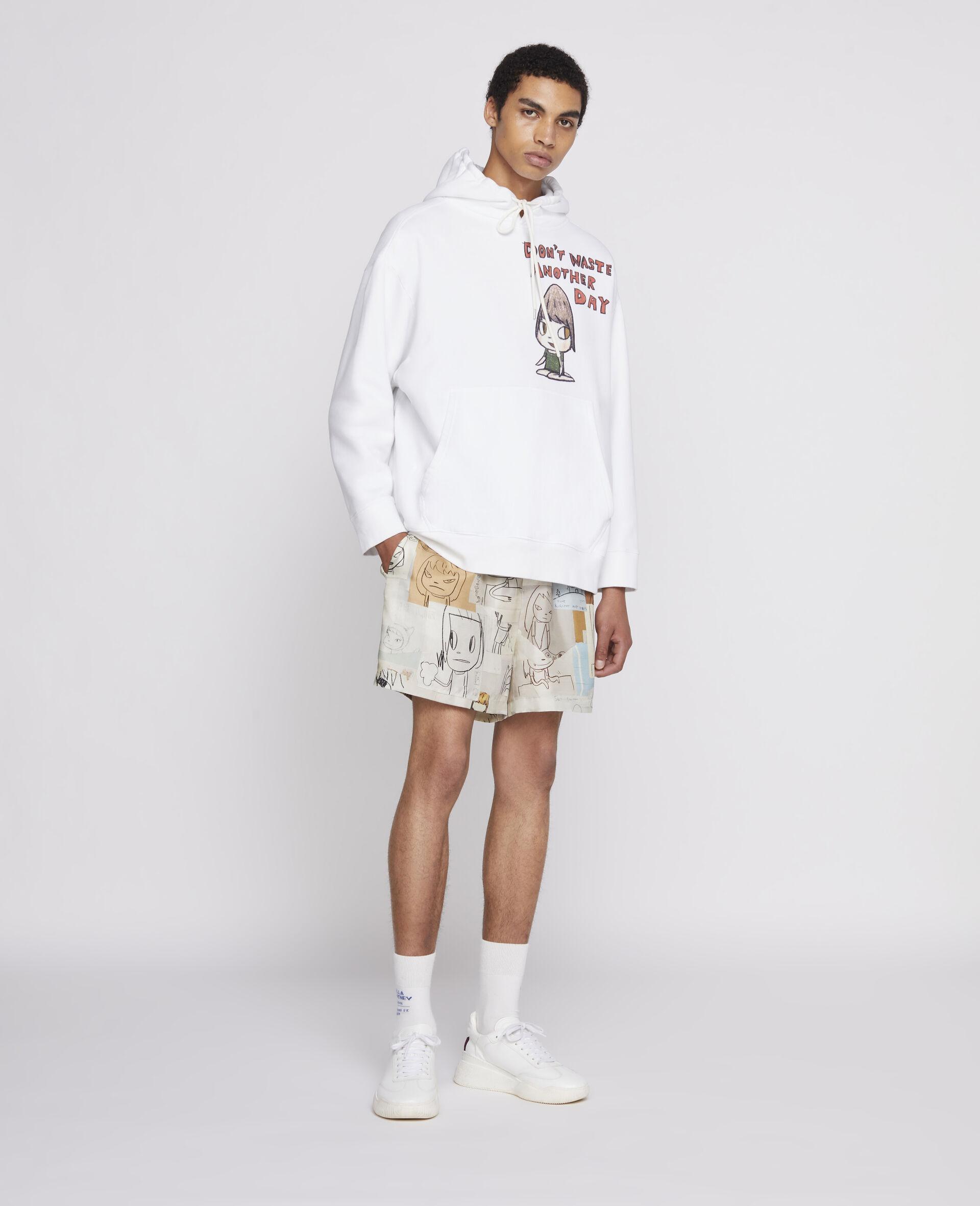 Sweat-shirt à capuche Nara en coton biologique-Blanc-large image number 1