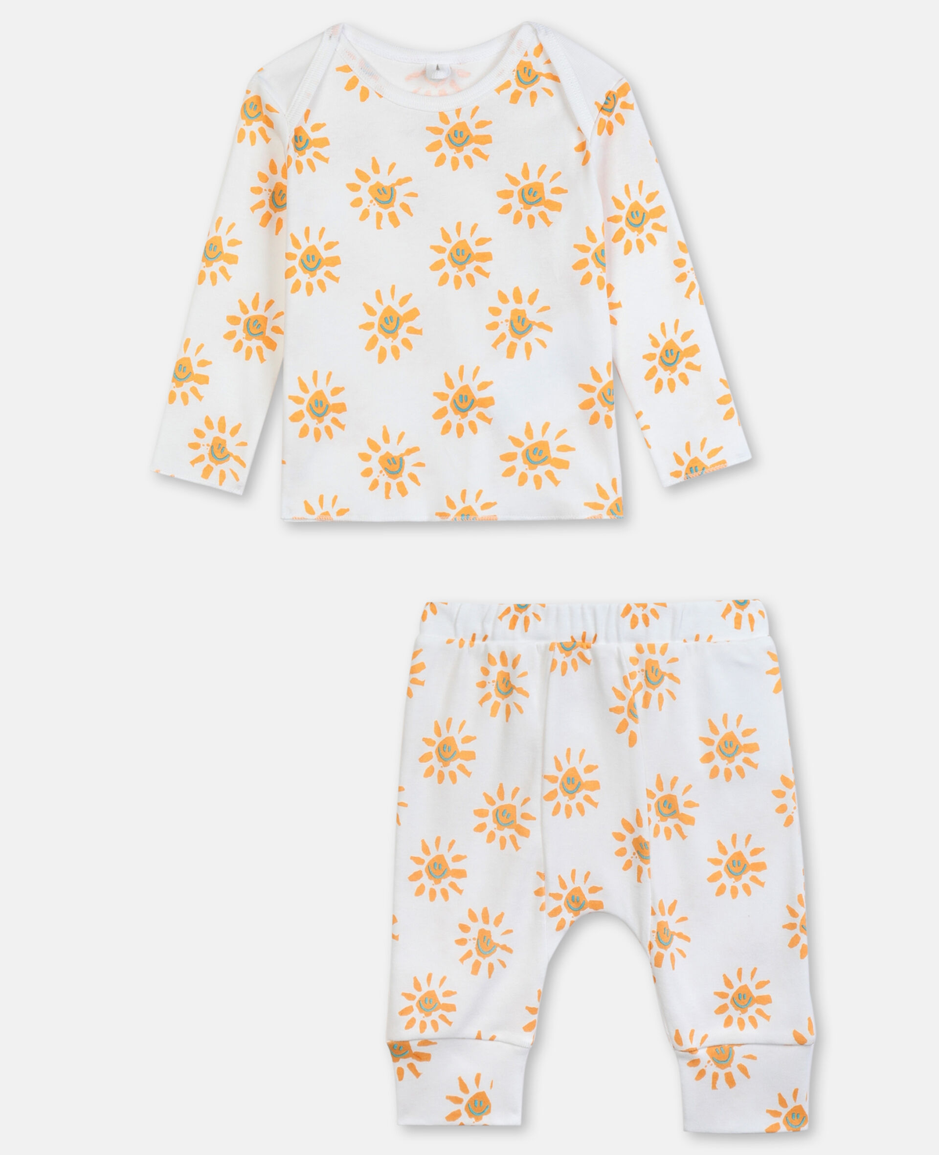 Happy Sun Jersey Rib Tracksuit -Yellow-large image number 0