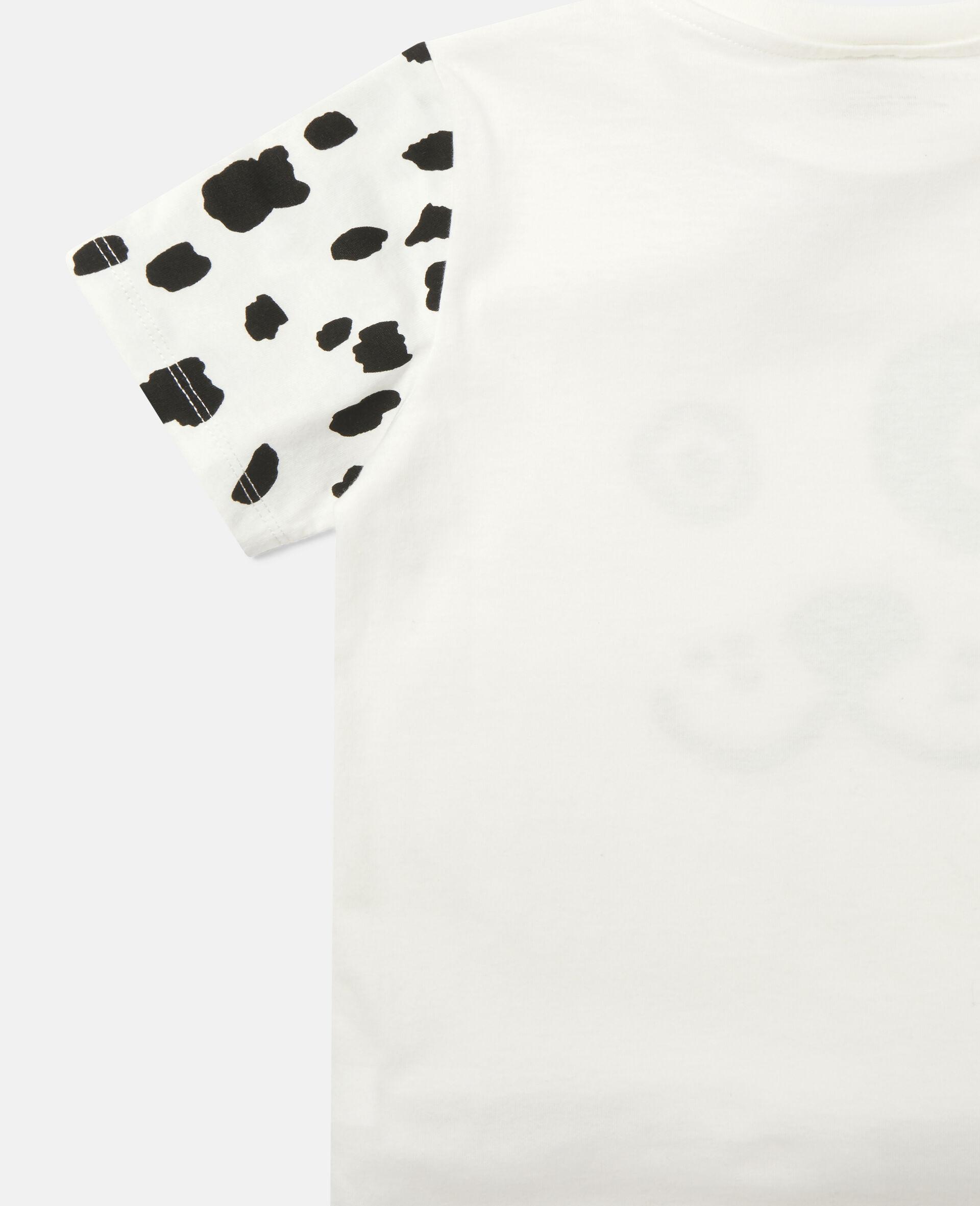 Dalmatian Cotton T-shirt -White-large image number 2