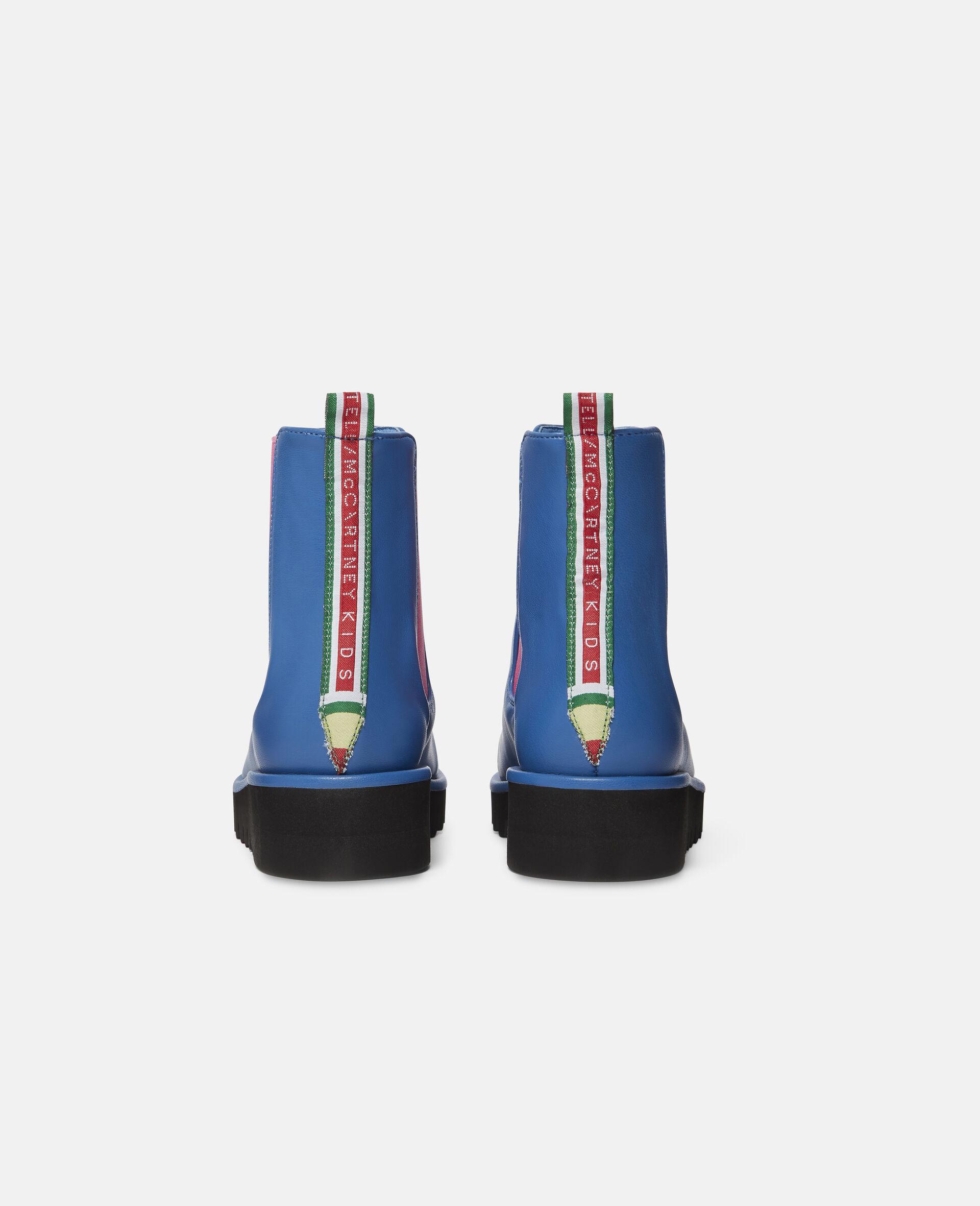 Pencil Logo Tape Boots -Blue-large image number 2