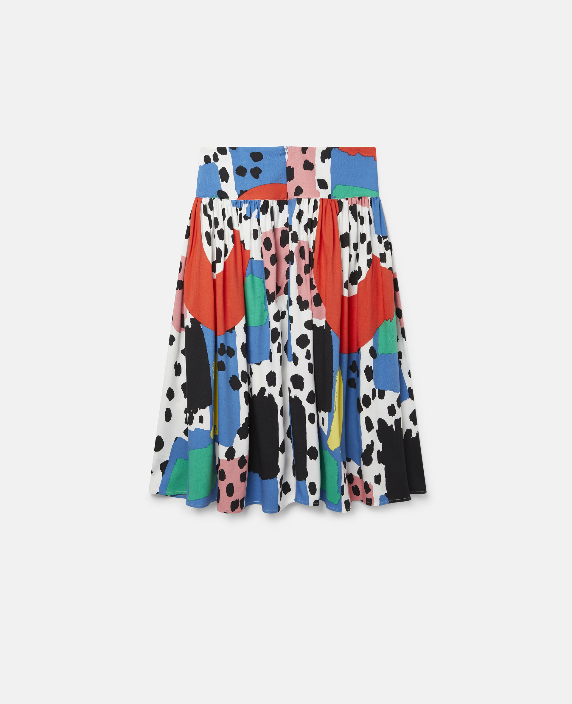 Dalmatian Spots Twill Skirt-Multicolour-large image number 3
