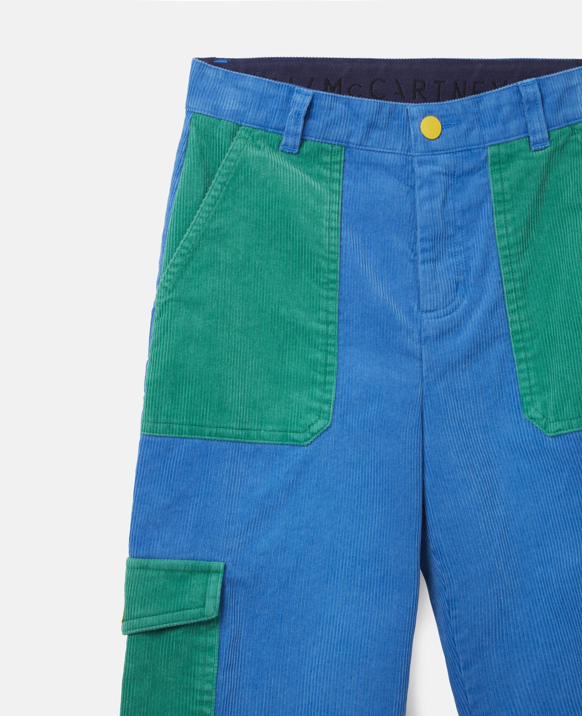 Cargo Corduroy Pants-Blue-large image number 1