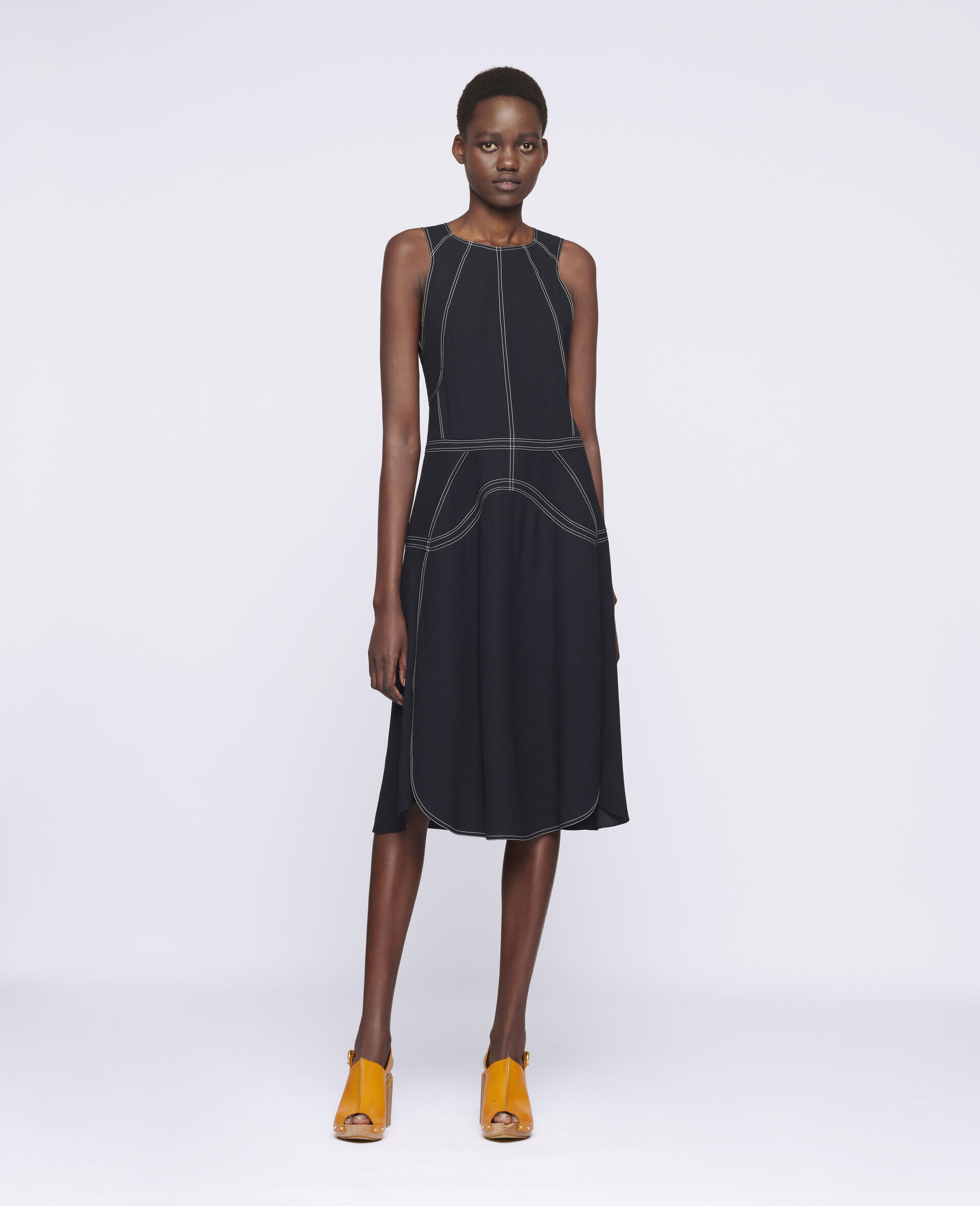 Robe midi Amber-Noir-large image number 1