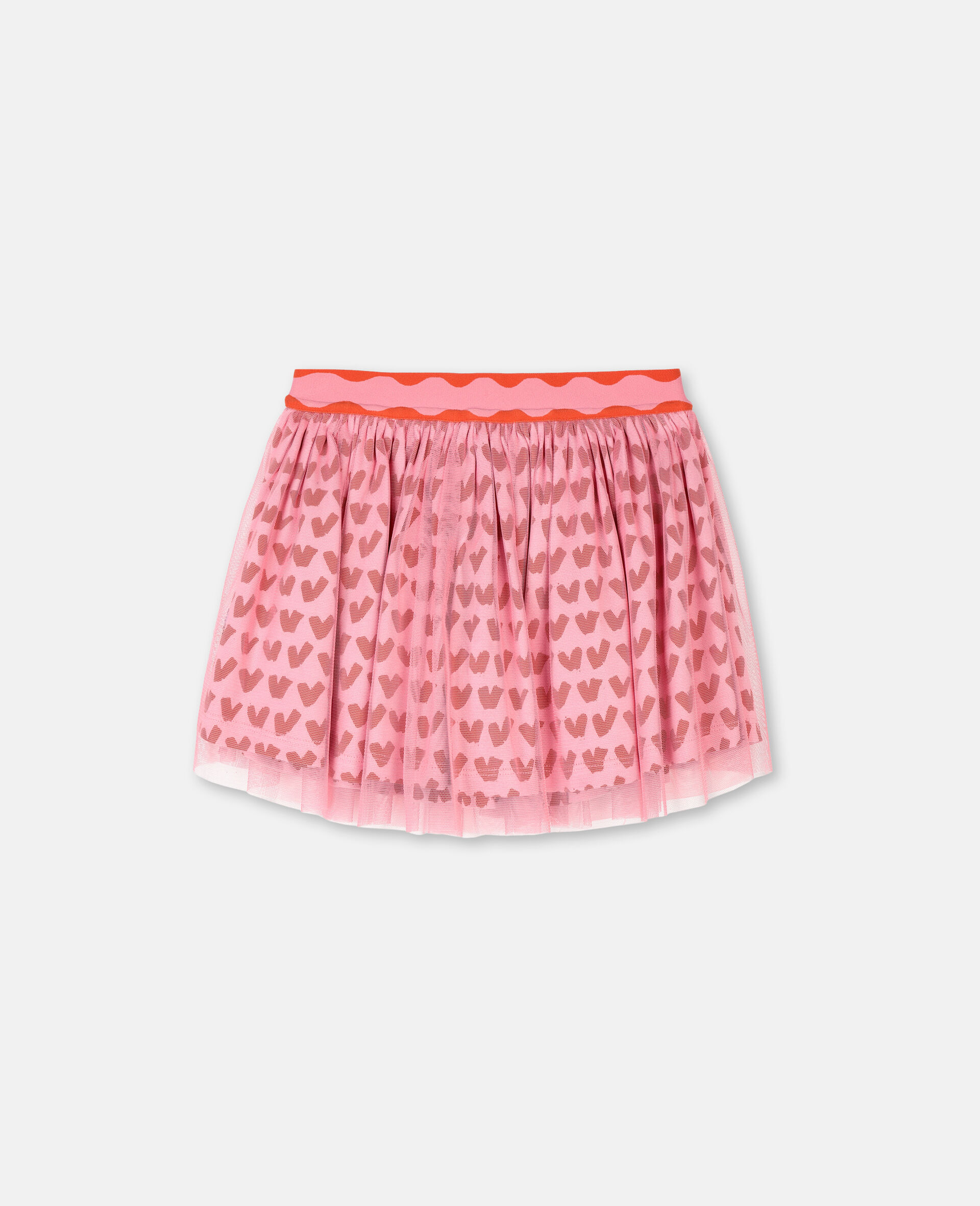 Hearts Tulle Skirt -Pink-large image number 0
