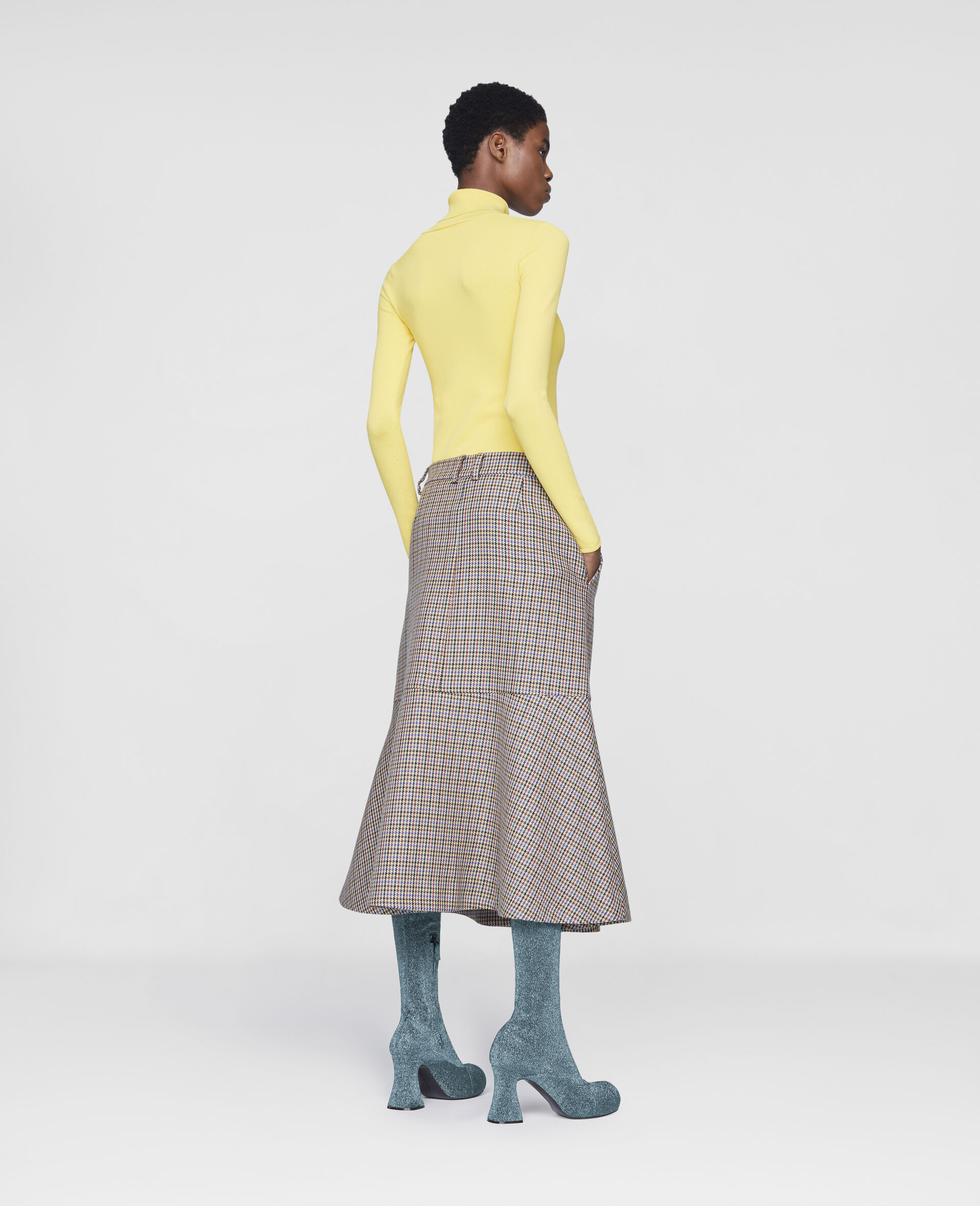 Naomi Wool Skirt-Beige-large image number 2