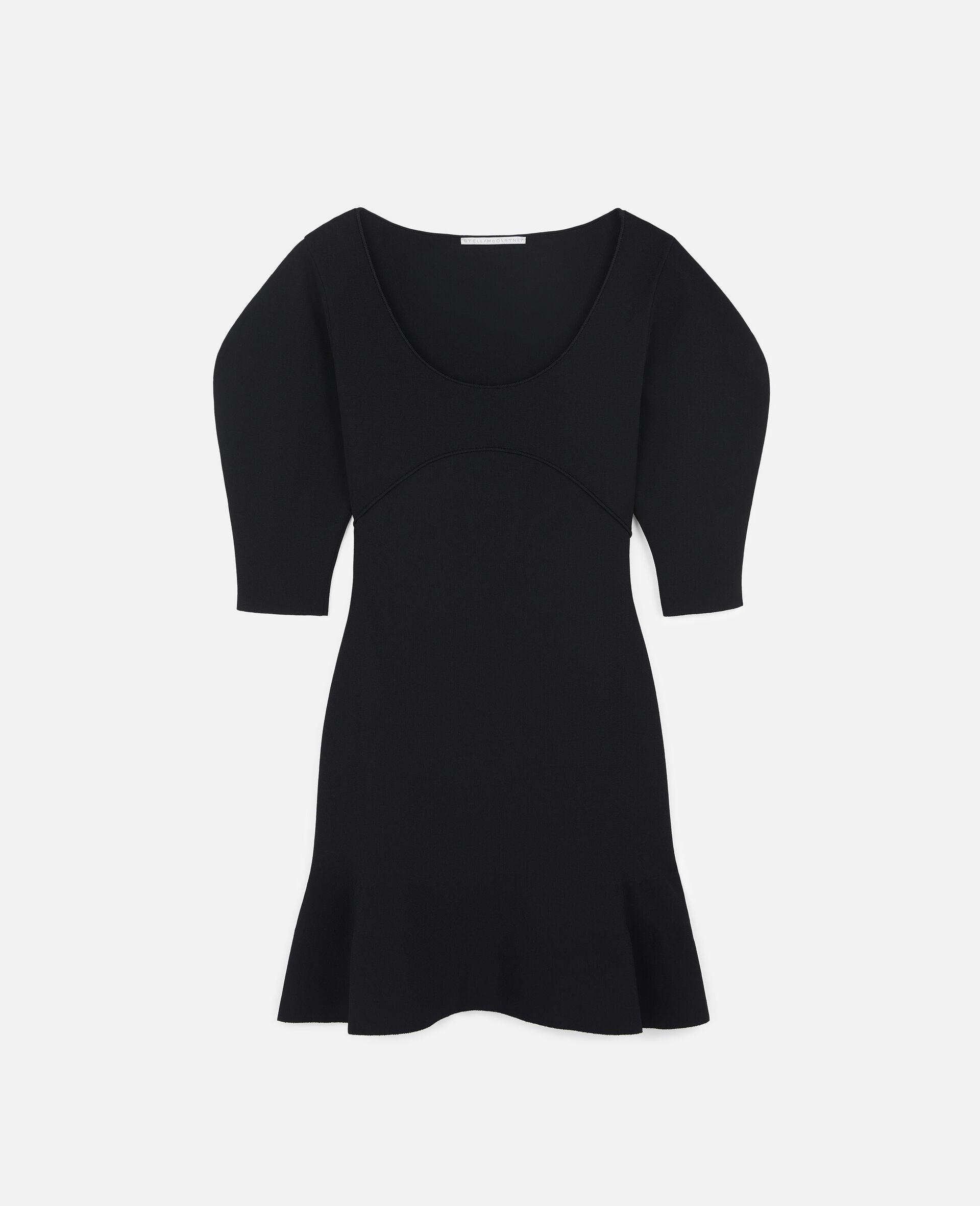 致密针织连衣裙-黑色-large image number 0