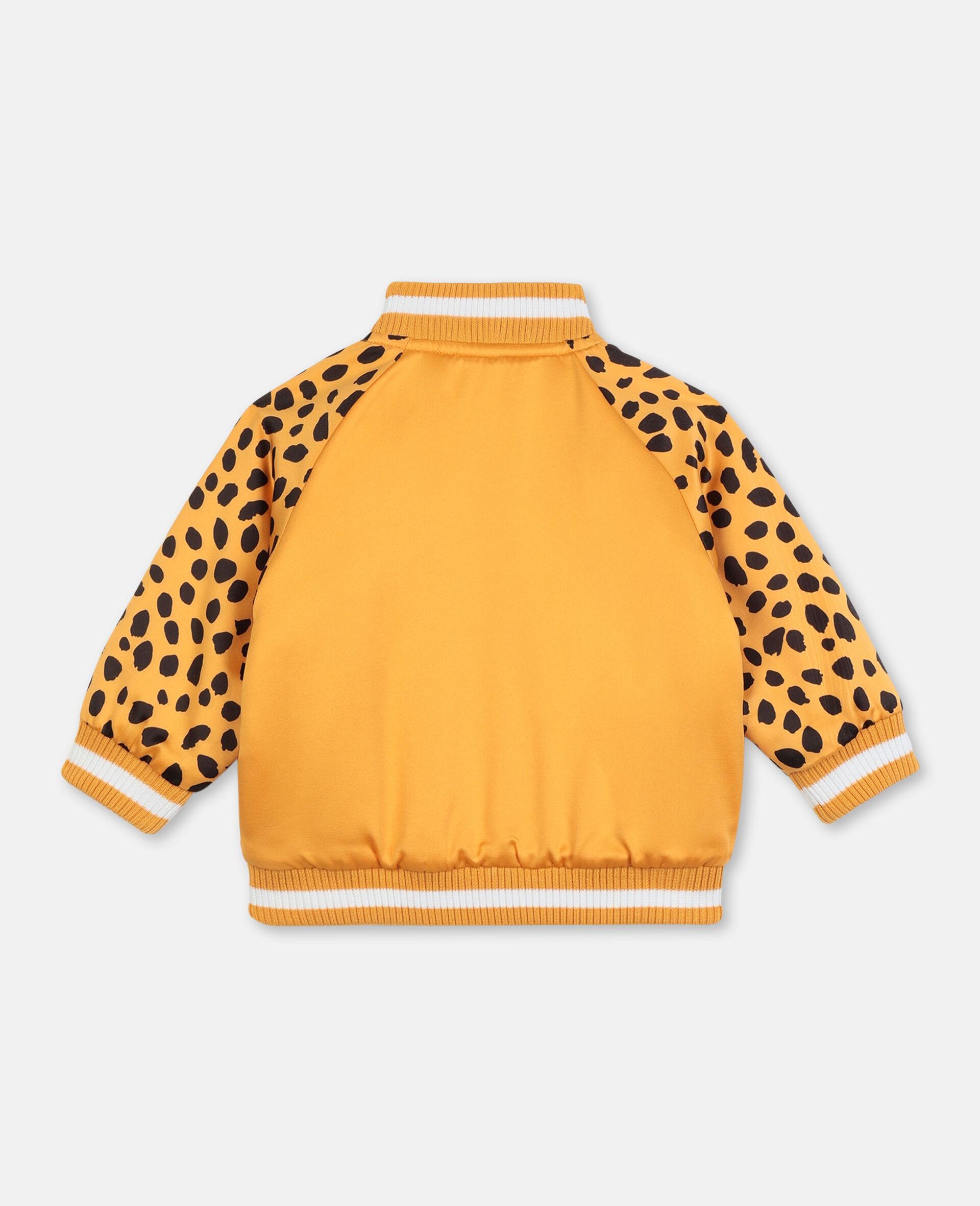 Cheetah 饰片缎面飞行员夹克   -橙色-large image number 3