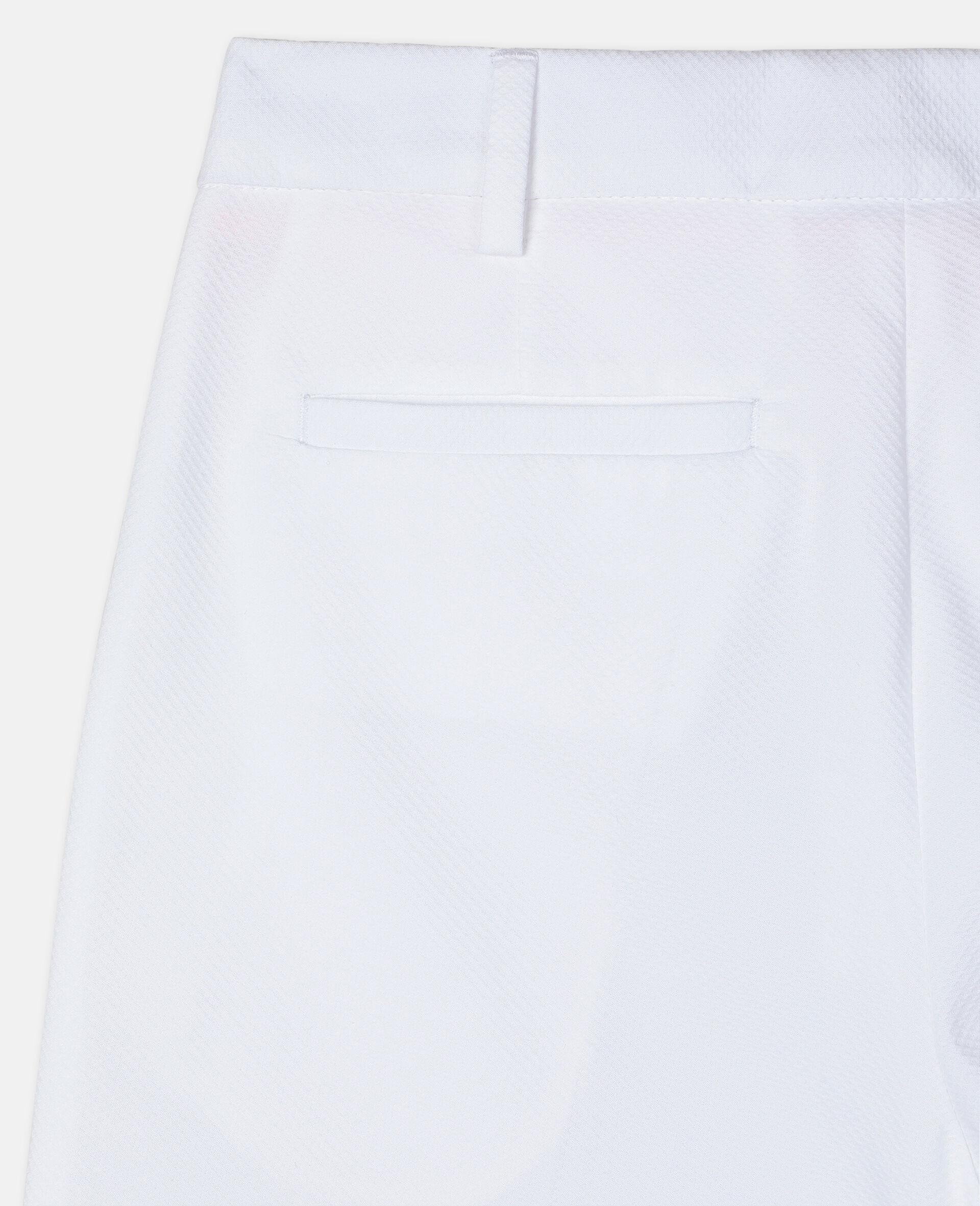 Cotton-Pique Suit Pants-White-large image number 1