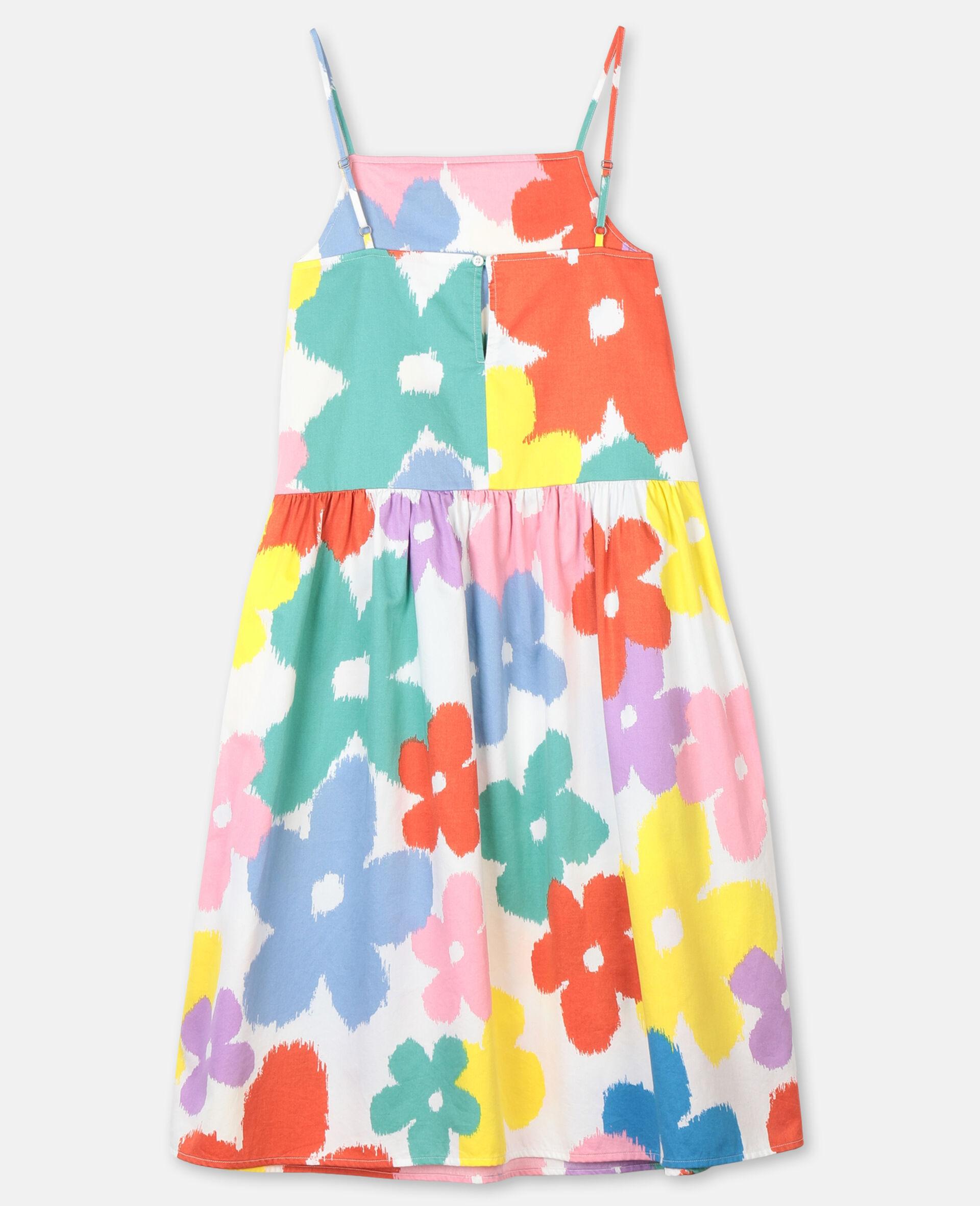 Flowers Cotton Dress-Multicolour-large image number 3
