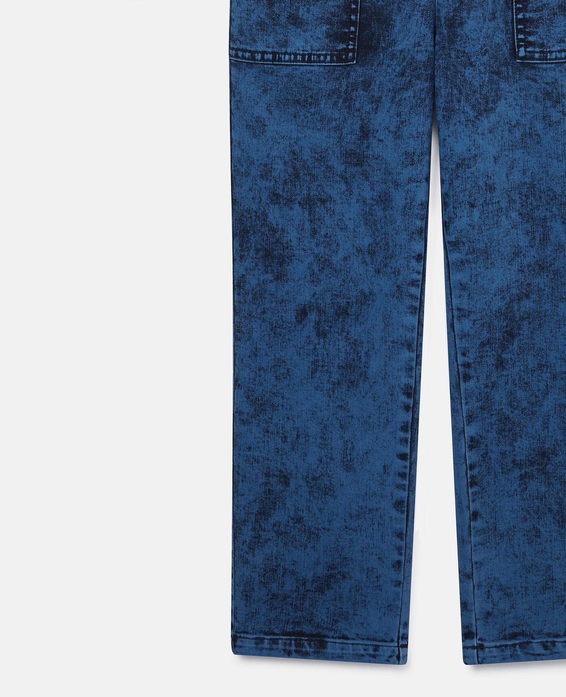 Combinaison en denim-Bleu-large image number 1