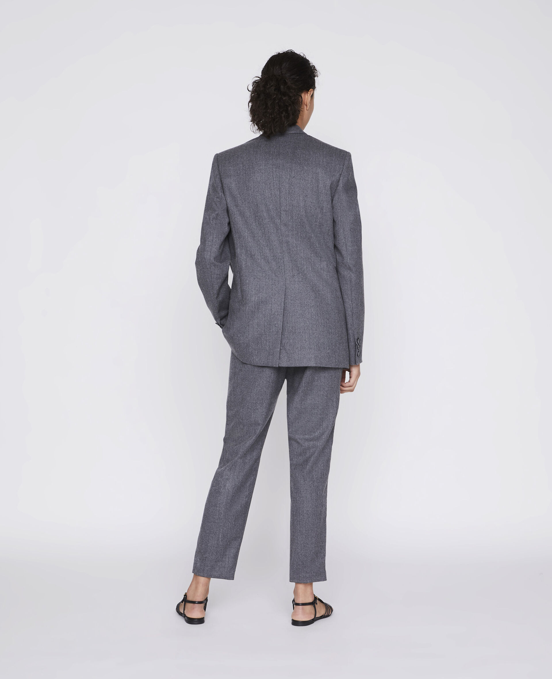 Tailored Bell Jacket -Grey-large image number 2