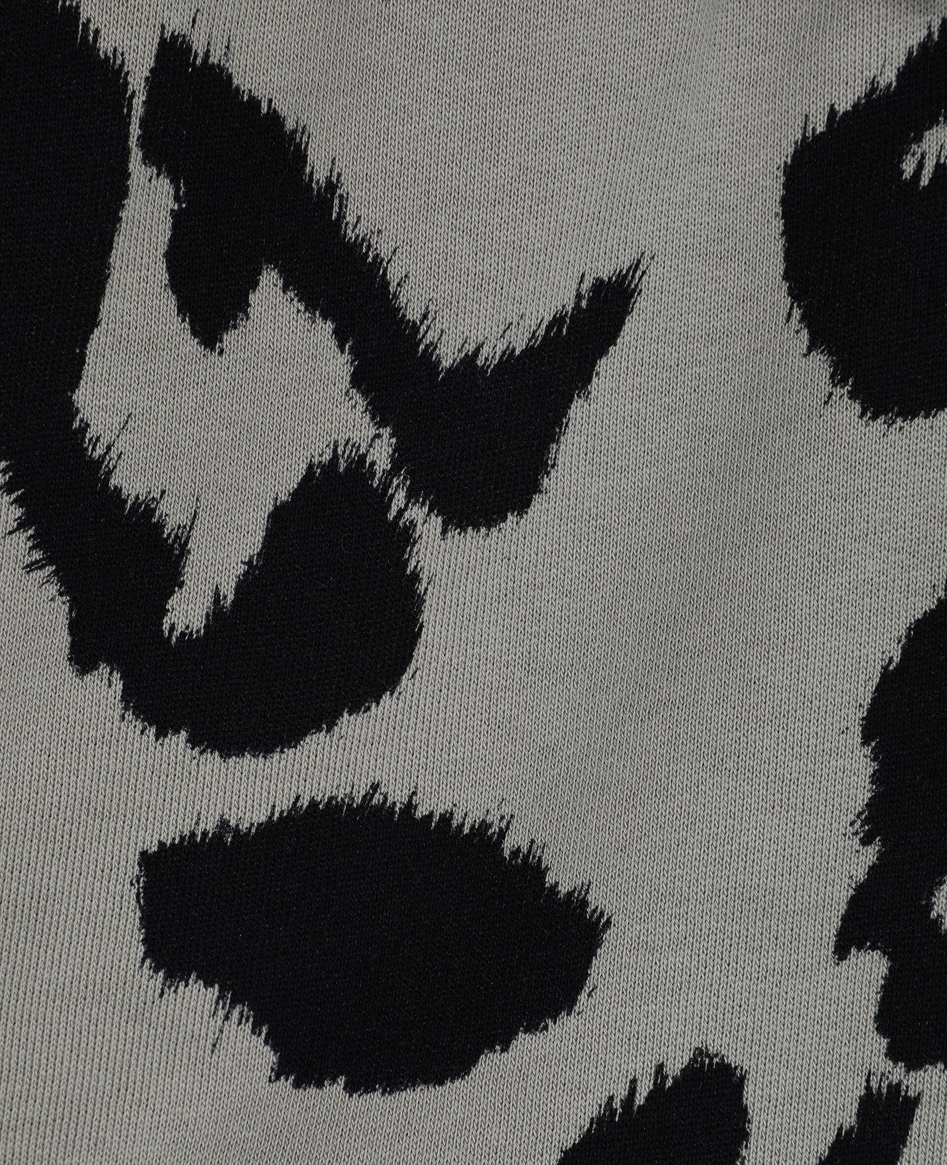 Baumwollfleece-Shorts mit Leoparden-Print-Bunt-large image number 1