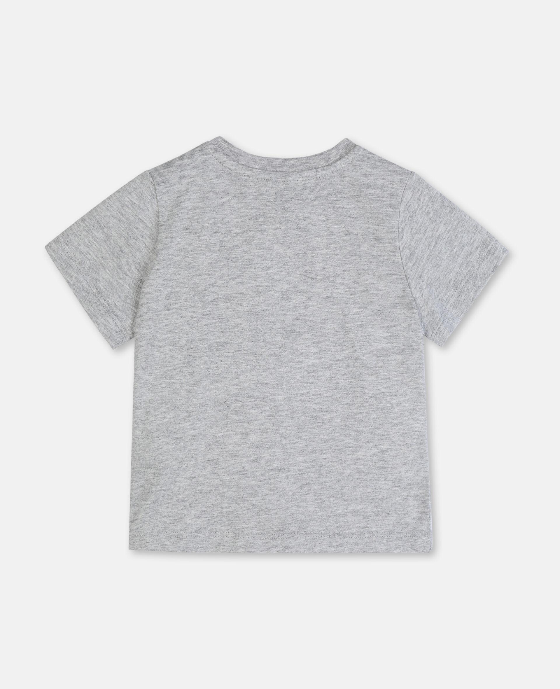 T-shirt en coton à motif pattes -Gris-large image number 3