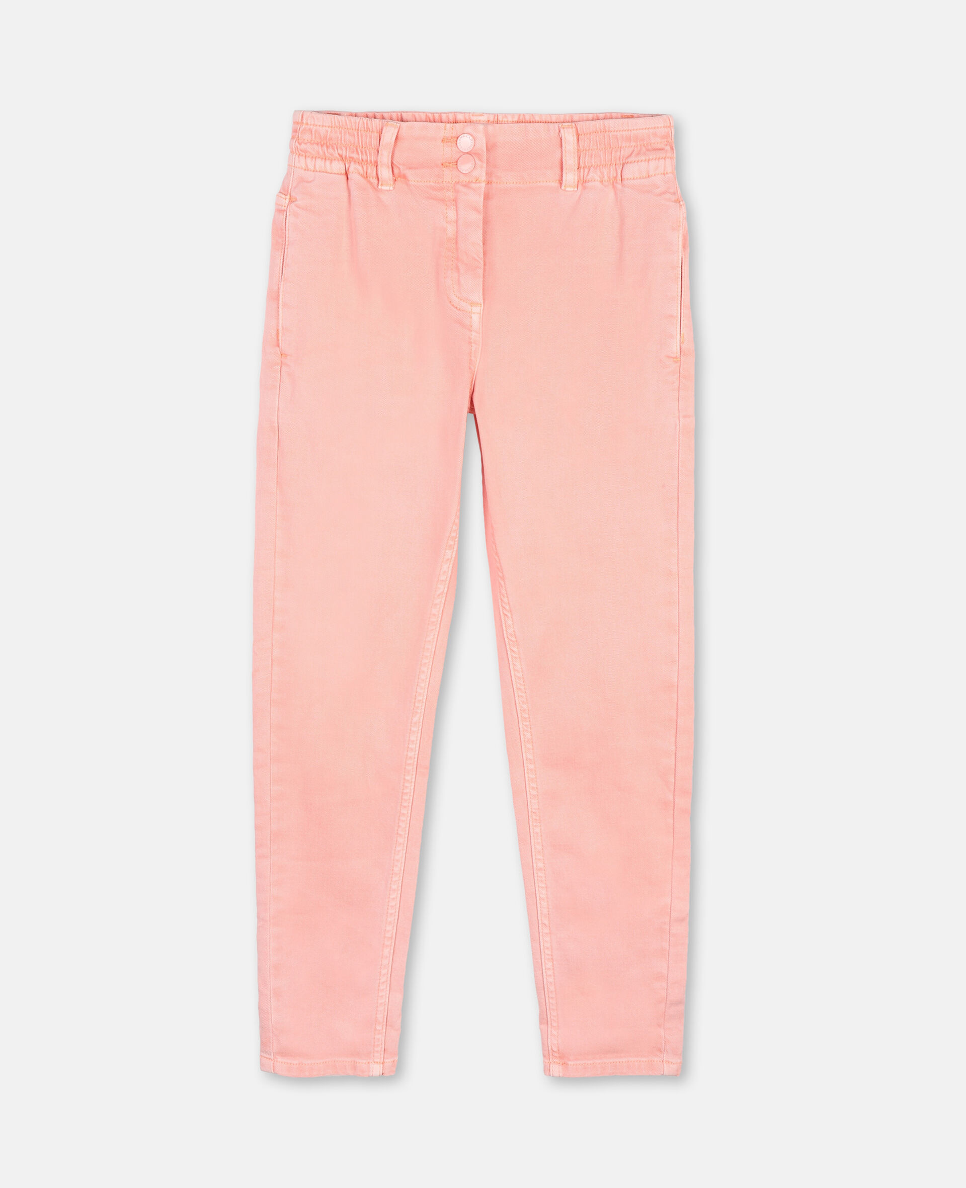 Mom Denim Trousers-Pink-large image number 0