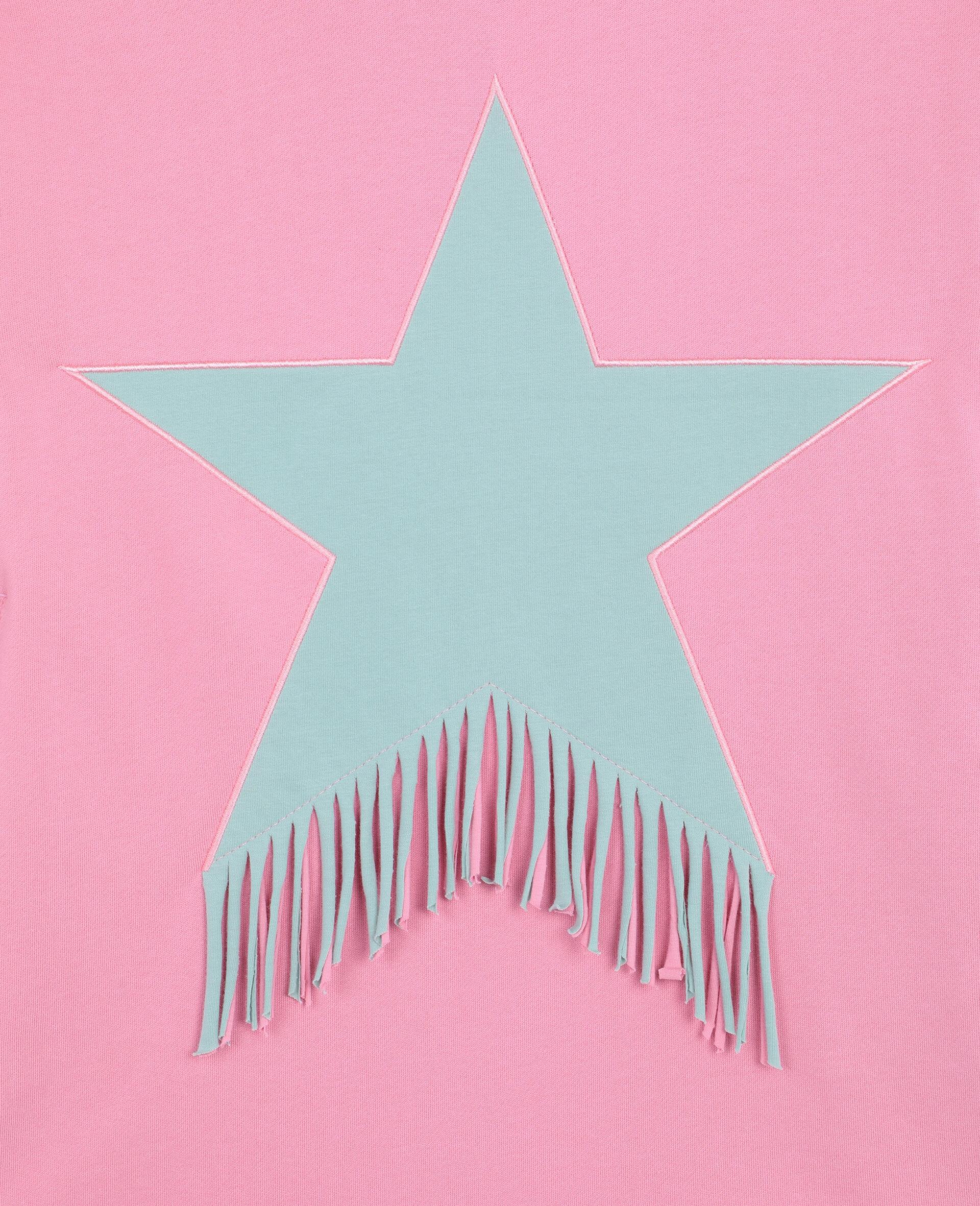 Star & Fringes Cotton Fleece Dress-Pink-large image number 2