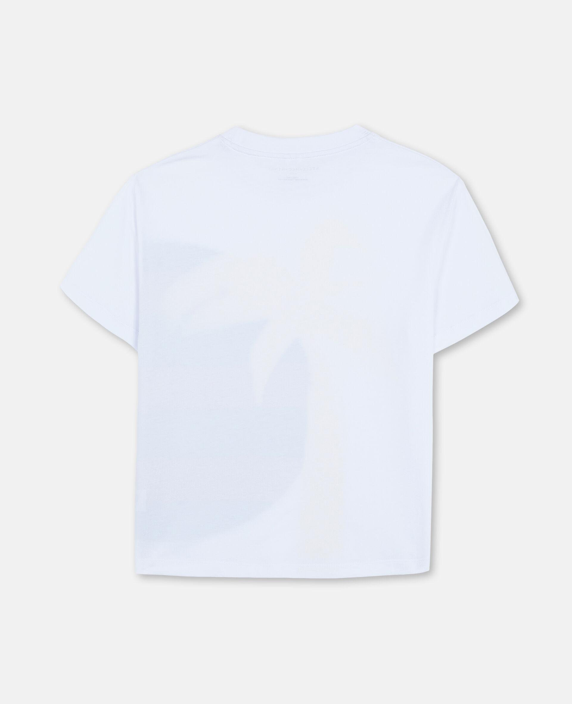 Oversized-T-Shirt aus Baumwolle mit Sonne-und-Palmen-Print -Weiß-large image number 3