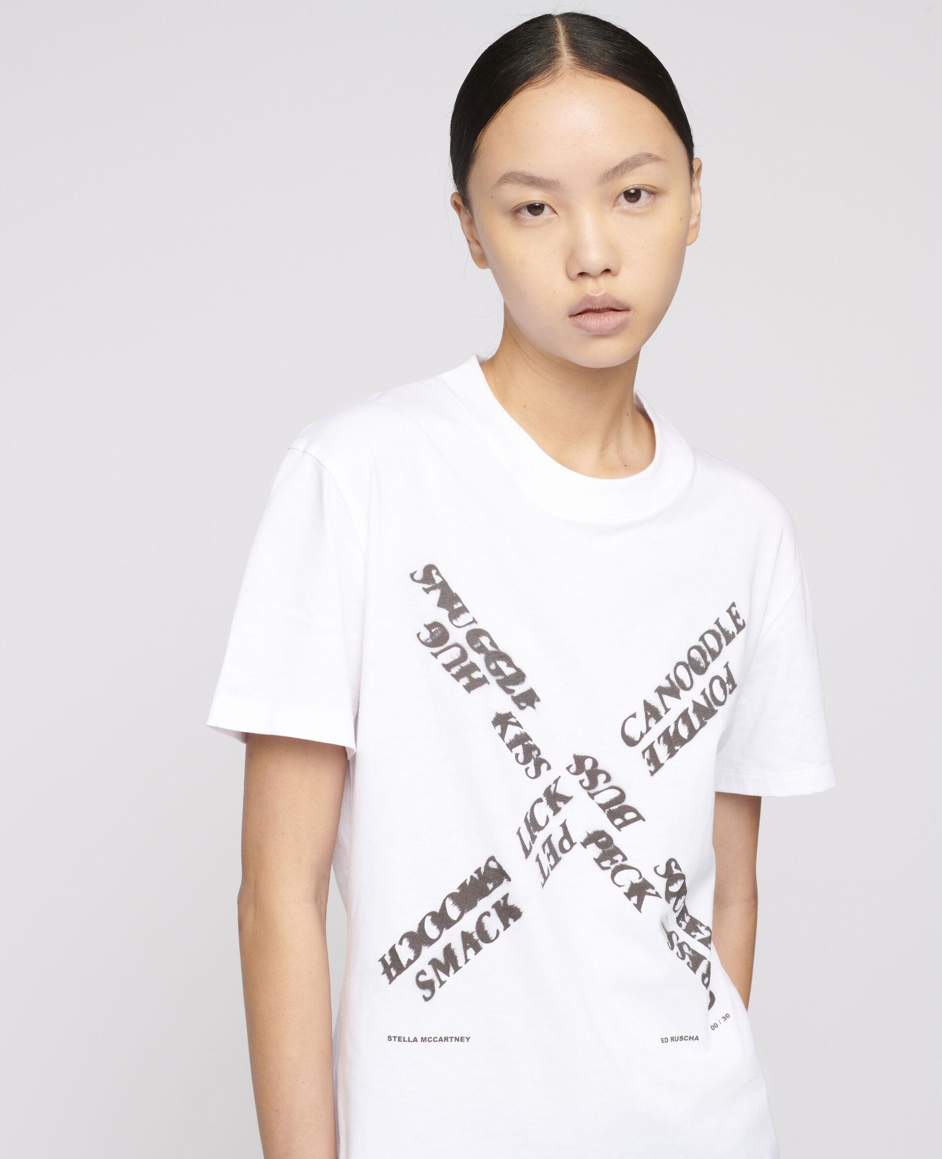 "Ed Ruscha ""X"" T-shirt-White-large image number 3"