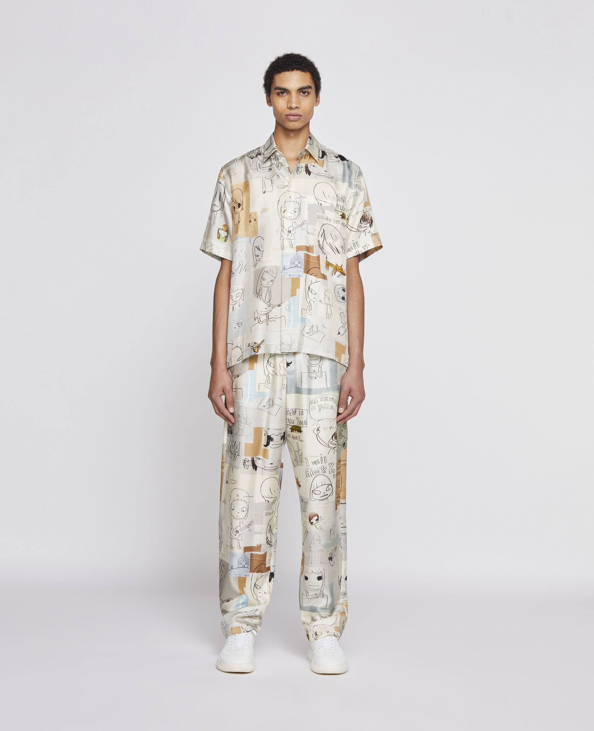 Nara Tye Silk Pants-Multicolour-large image number 1