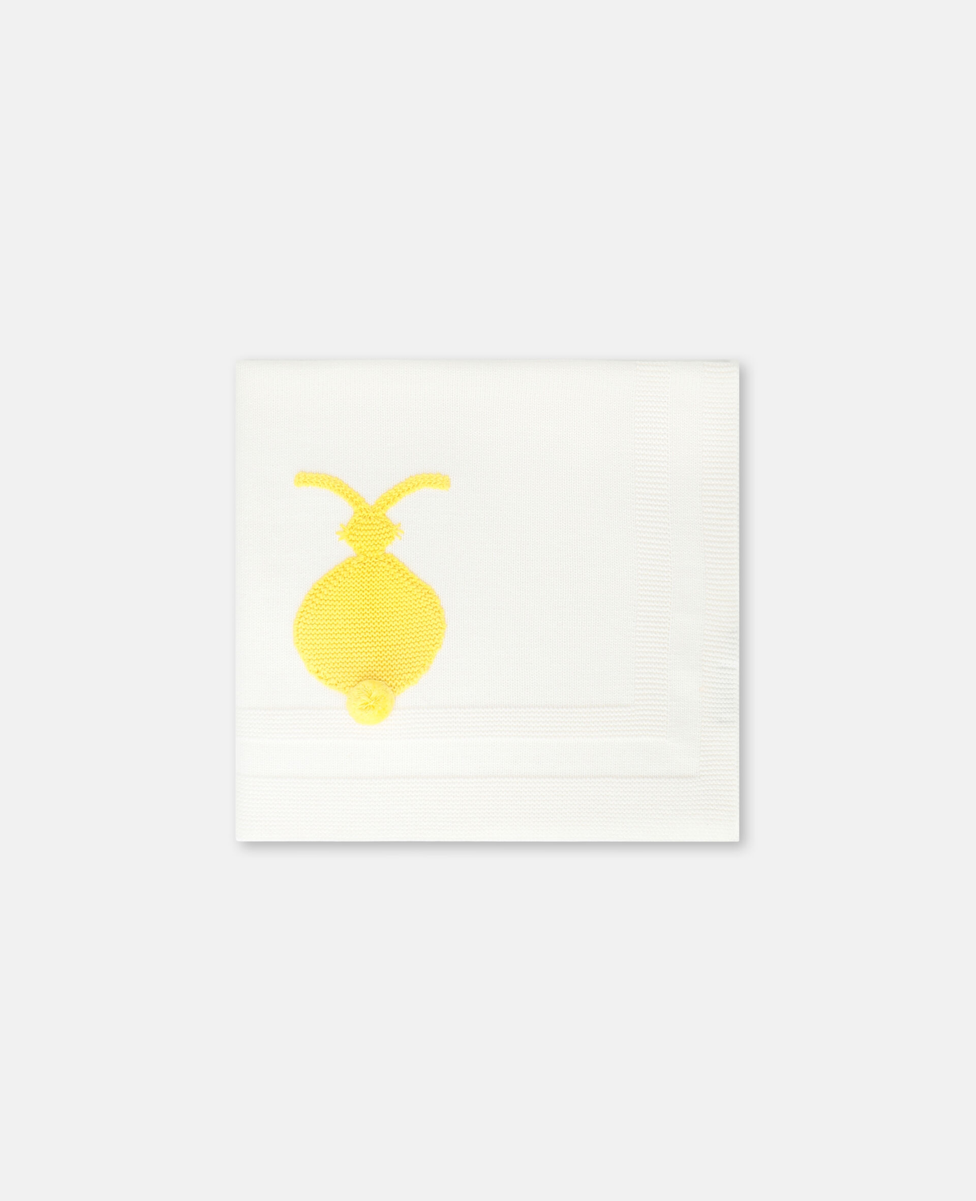 Bunny Knit Blanket -White-large image number 0