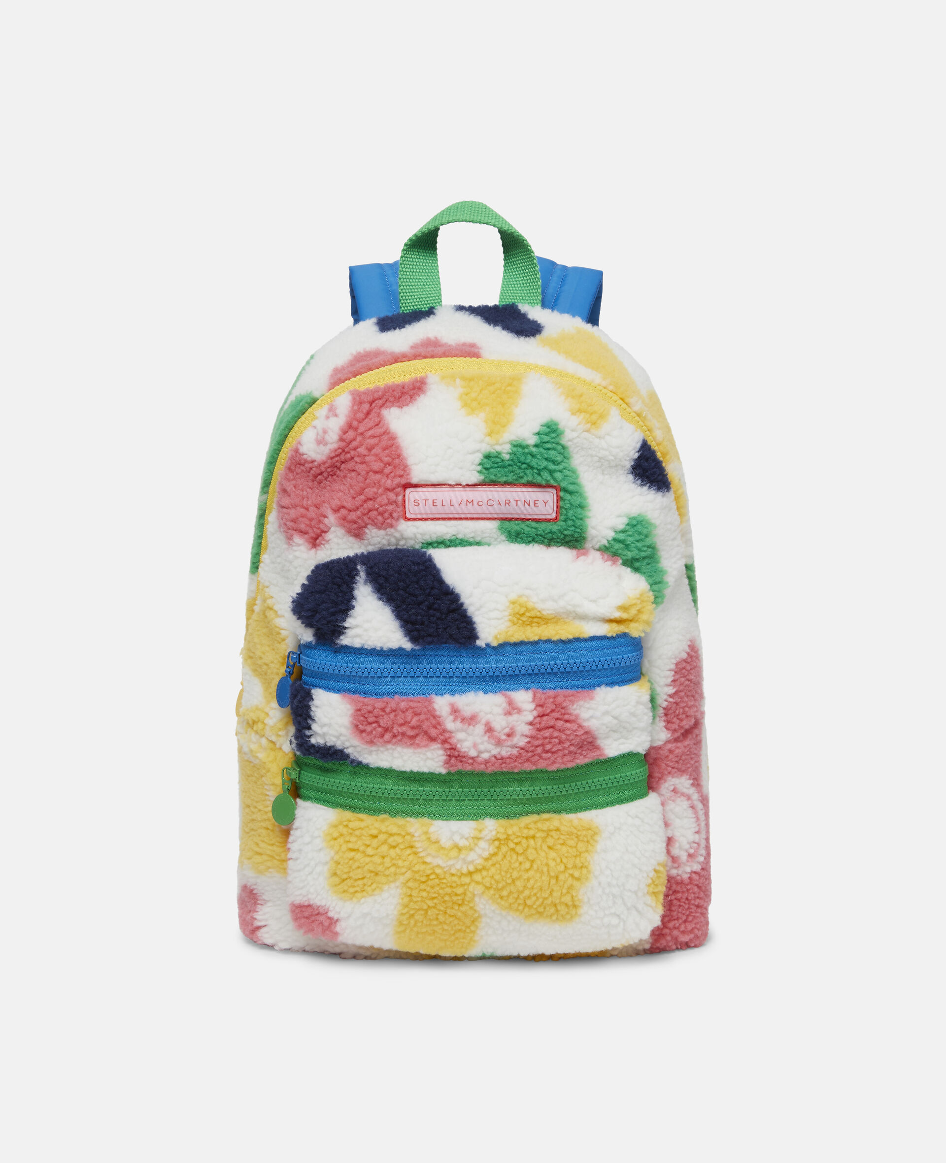 Happy Flowers Teddy Backpack-Multicolour-large image number 0
