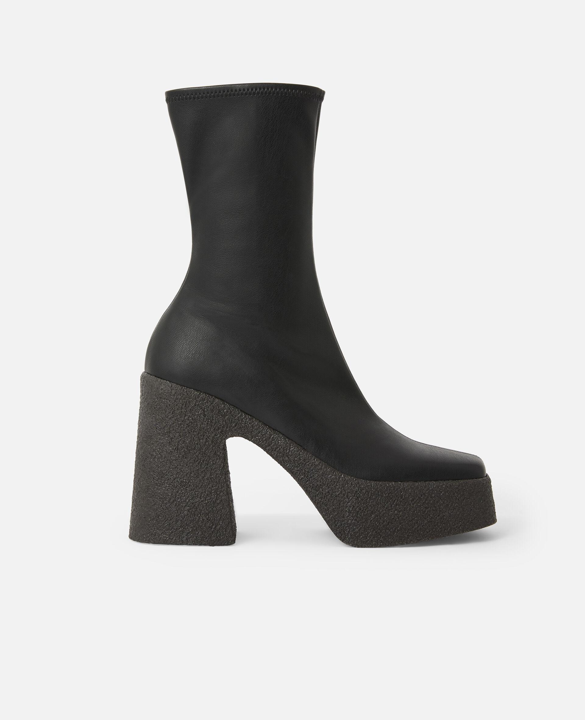 粗跟踝靴 -黑色-large image number 0