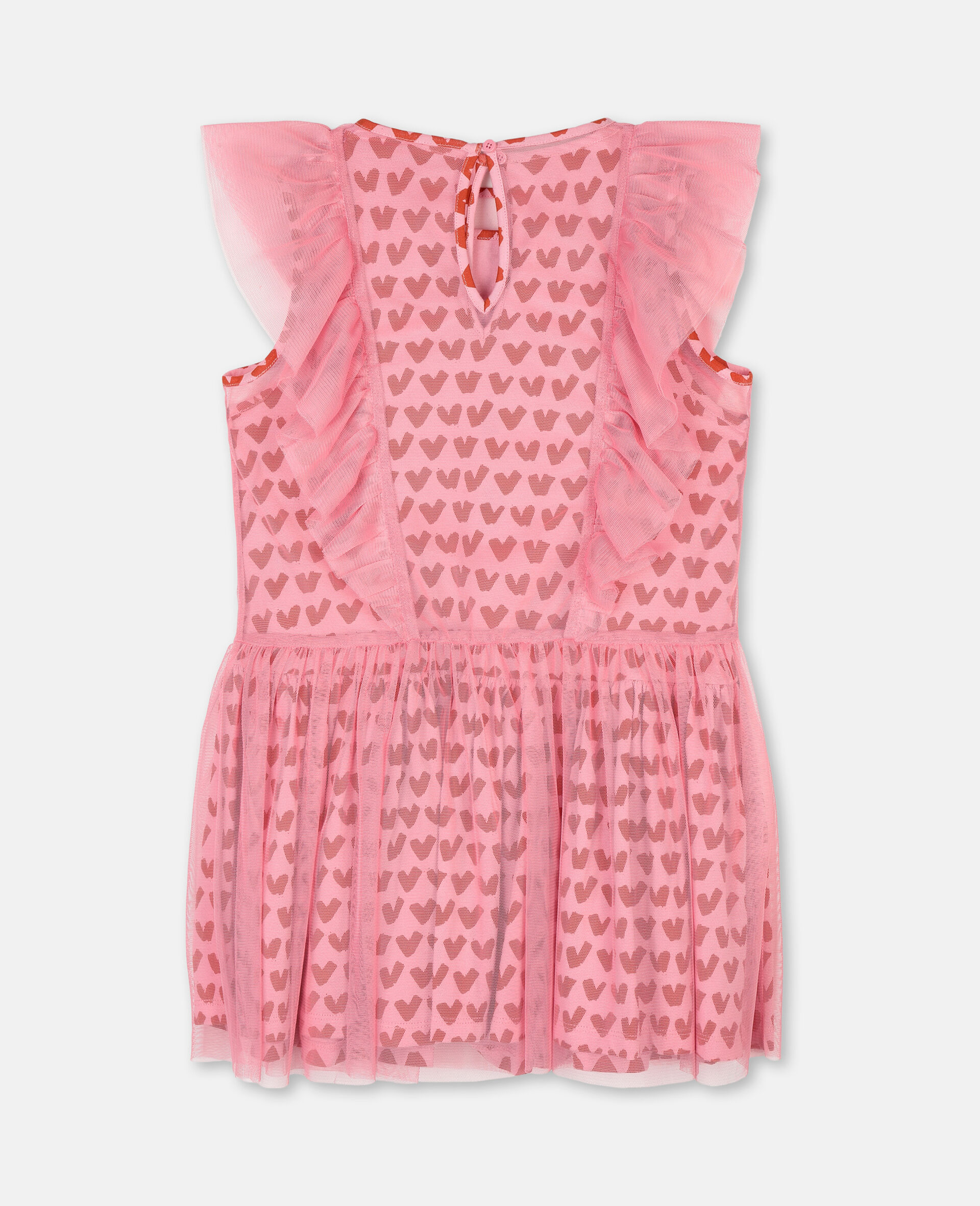 Hearts Tulle Dress-Pink-large image number 3