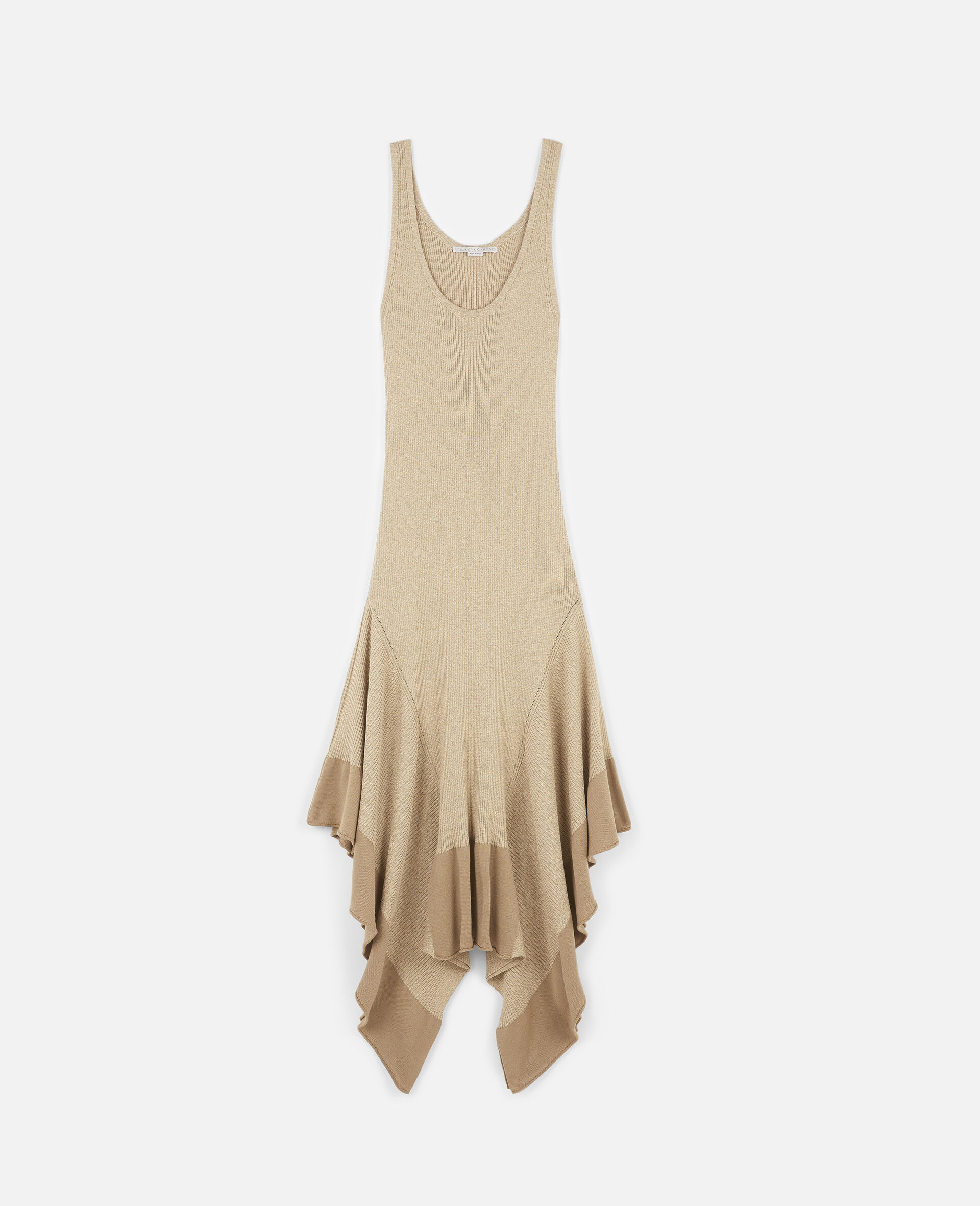 Sleeveless Maxi Dress-Beige-large image number 0