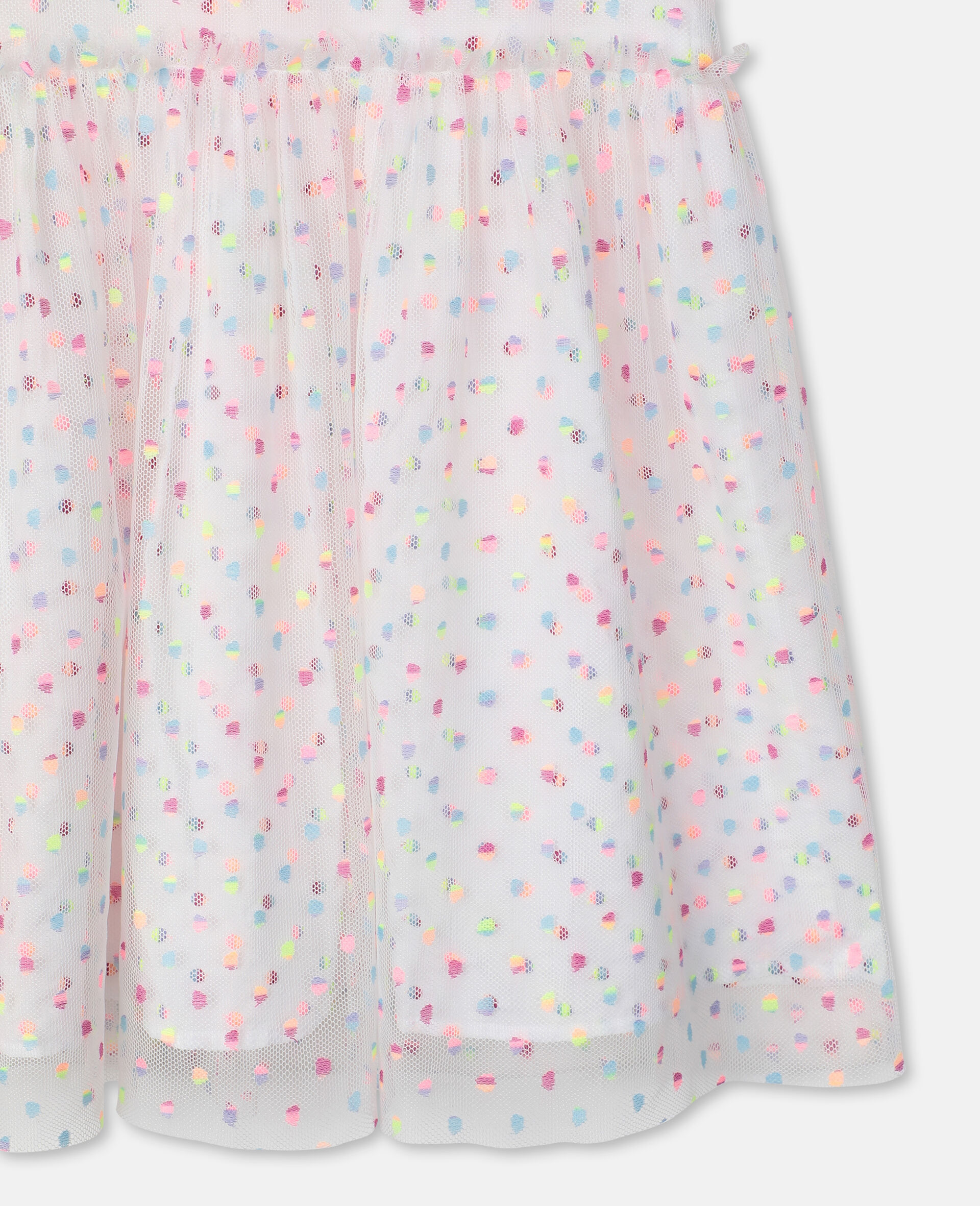 Embroidered Dots Tulle Dress -Multicoloured-large image number 1