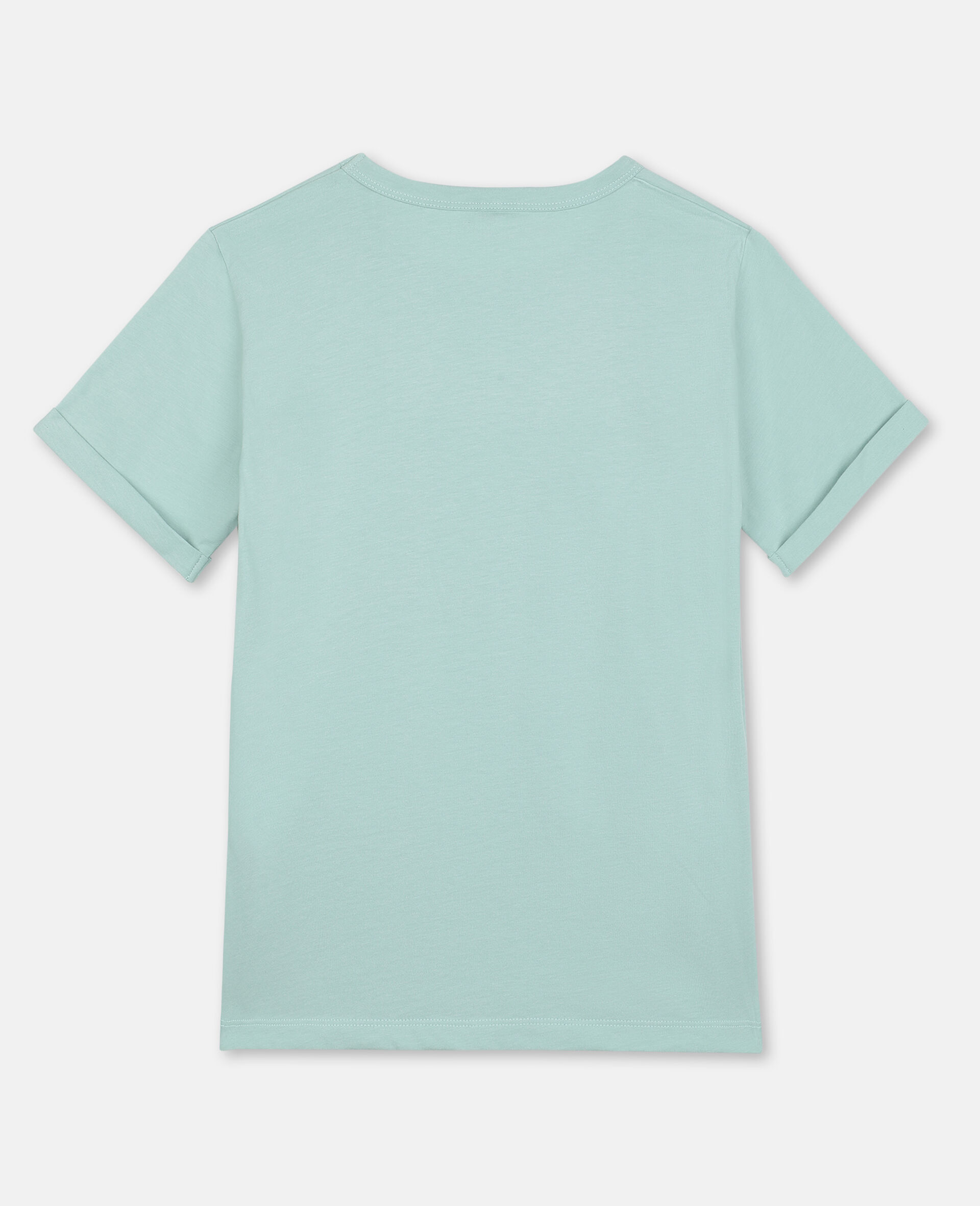 Butterfly Cotton T-shirt-Green-large image number 3