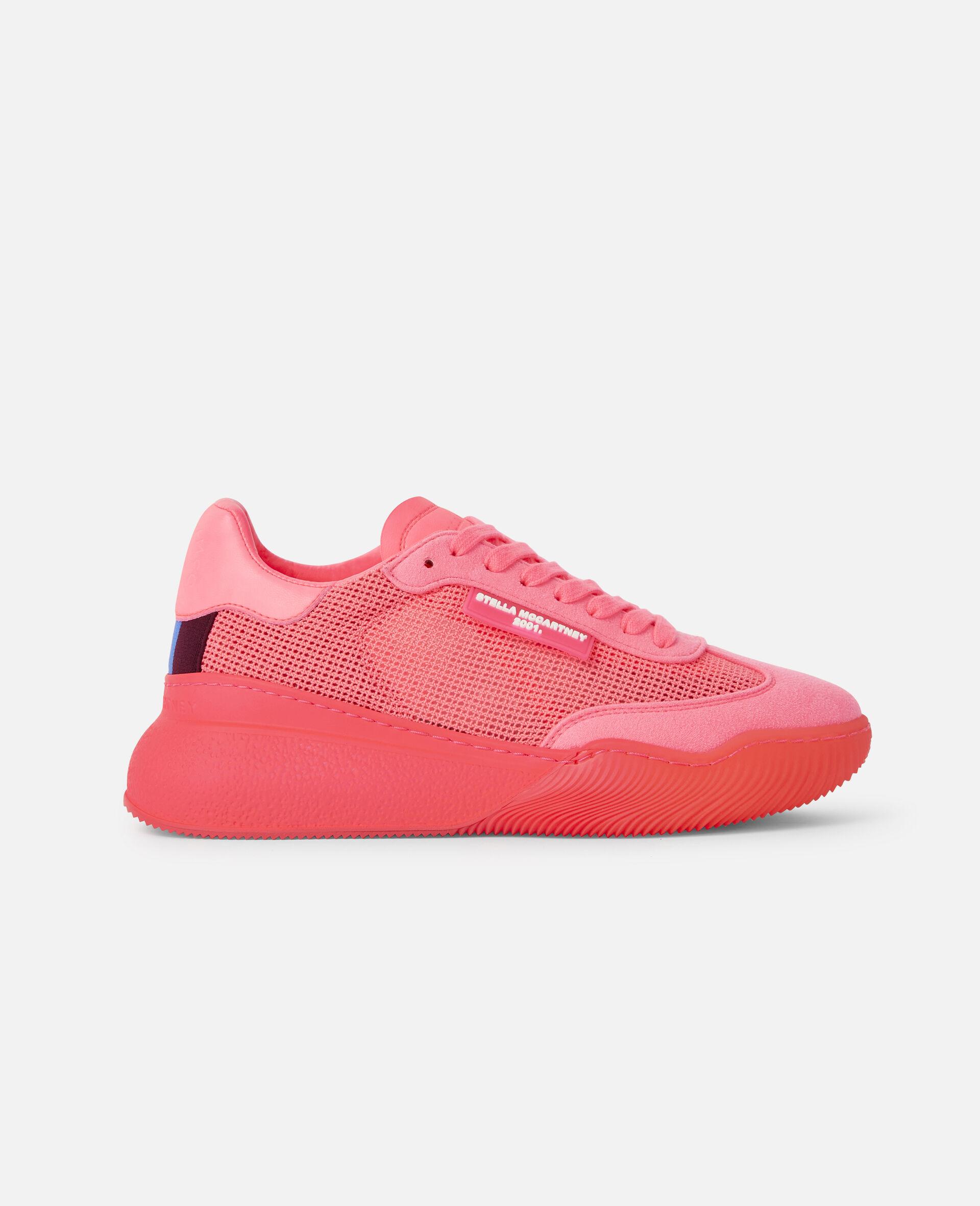 Loop Square Mesh Sneakers -Pink-large image number 0