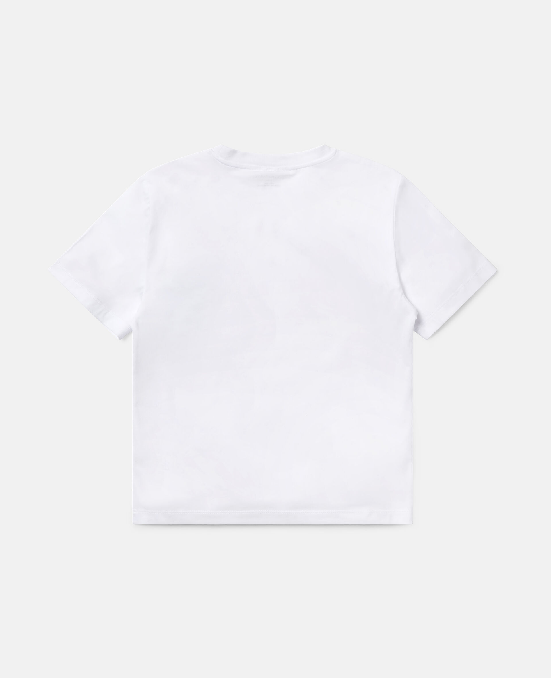 T-Shirt Oversize Sportiva in Cotone-Bianco-large image number 3