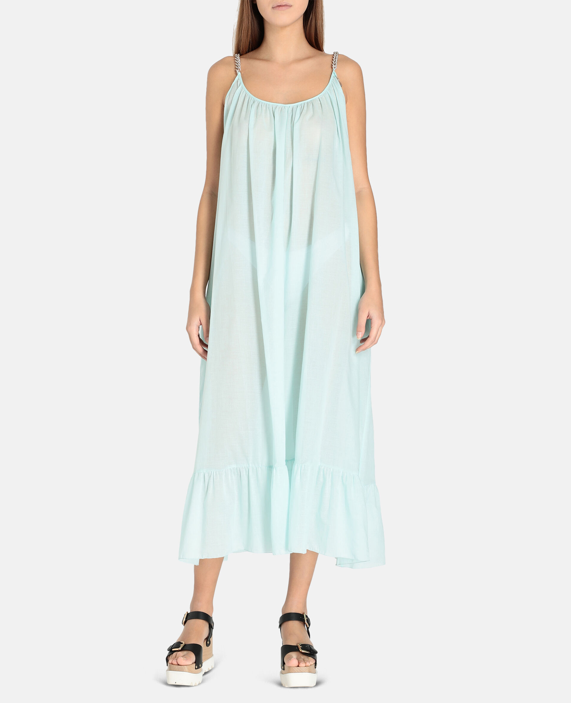 Iconic Chain Long Dress-Mint-large image number 3