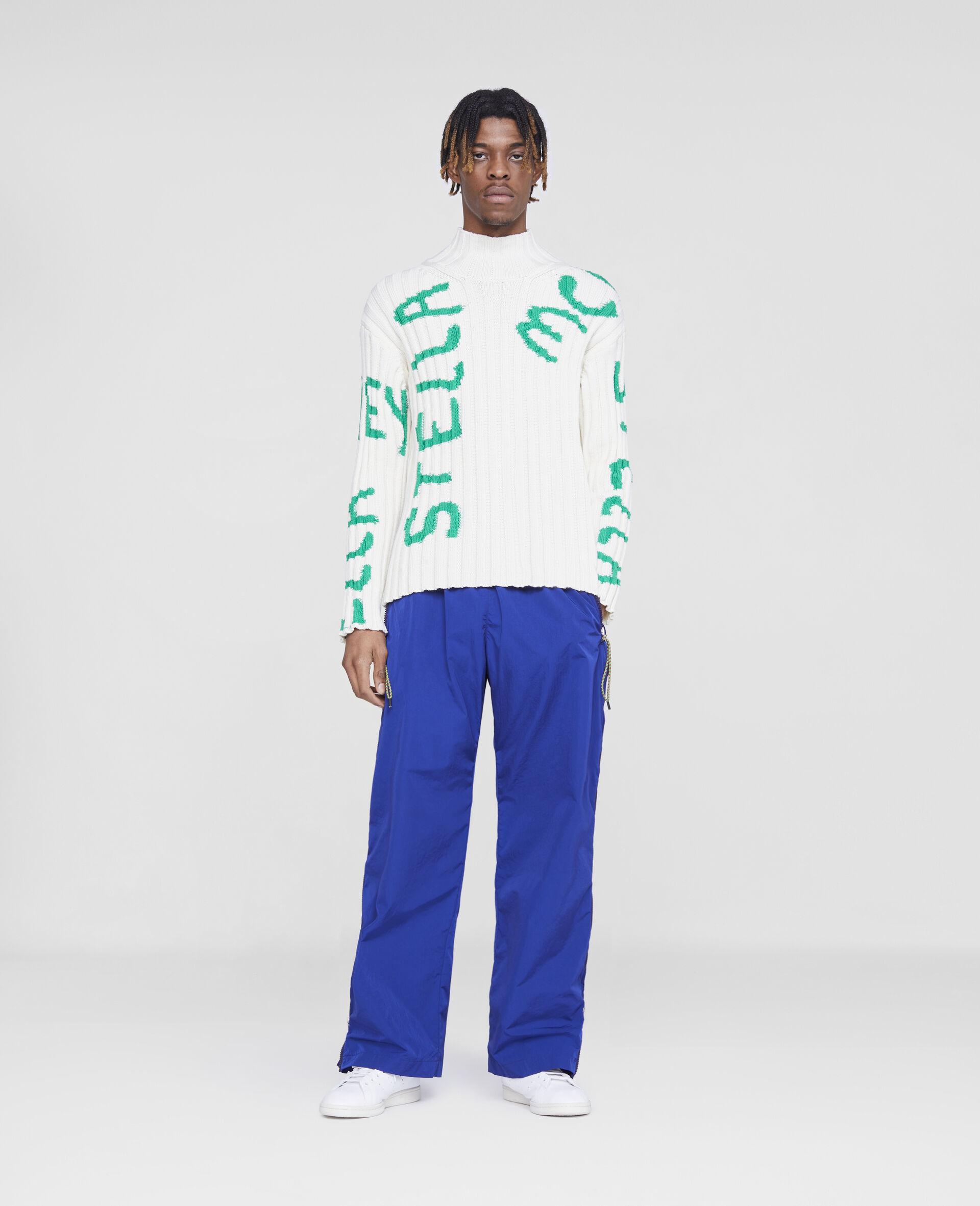 Pantalon zippe-Bleu-large image number 1
