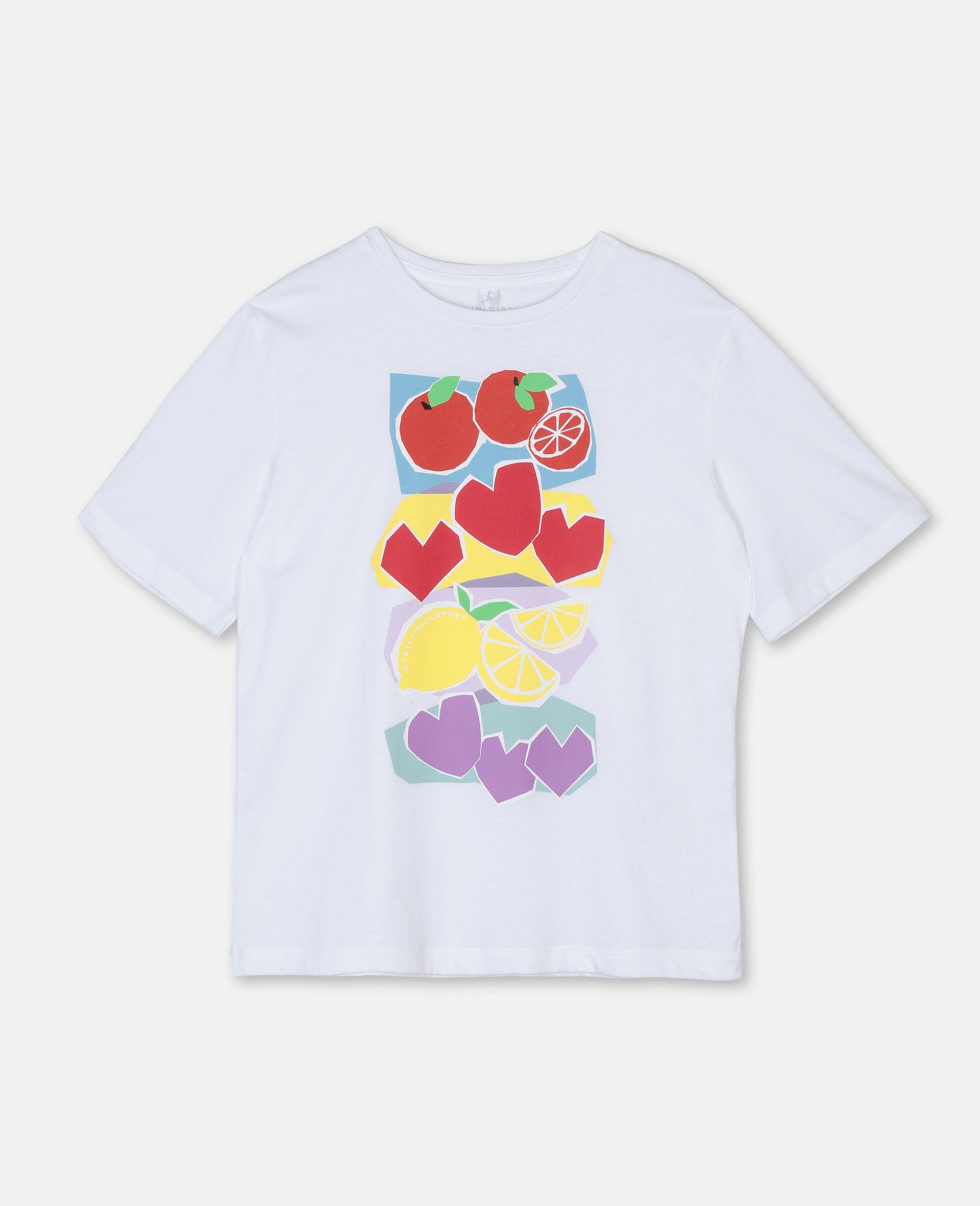 Fruit Oversize Cotton T-shirt-Pink-large image number 0