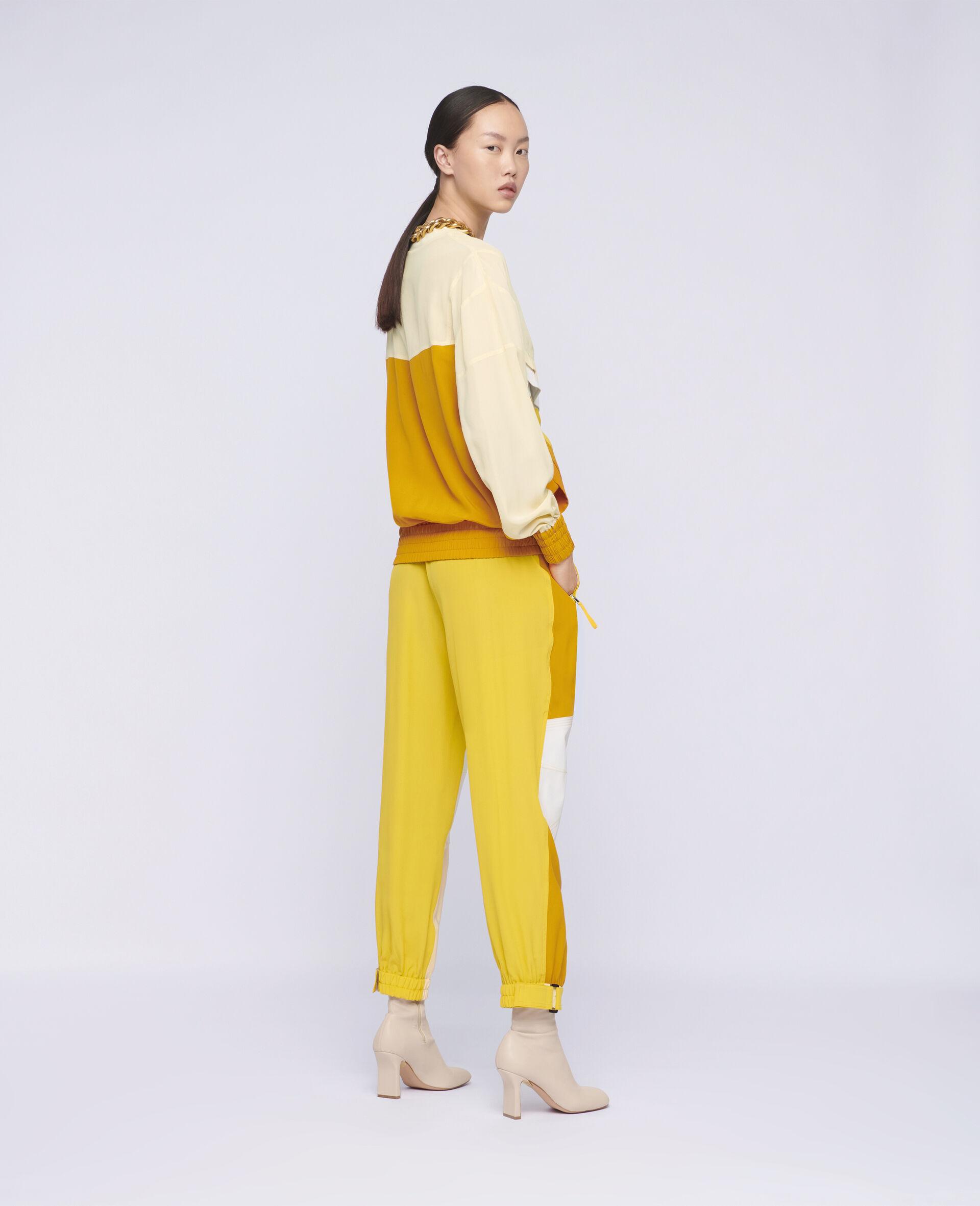 Pantalon en soie Lacey-Beige-large image number 2