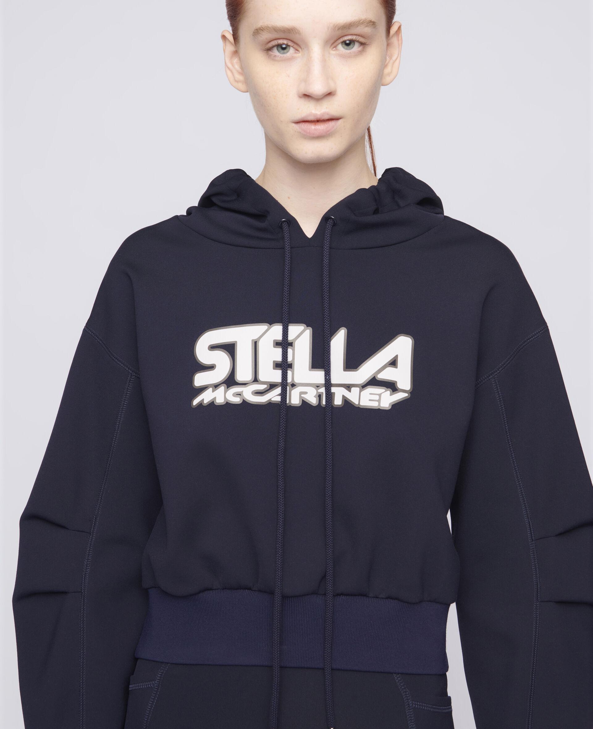 Felpa Scuba con Logo-Blu-large image number 3