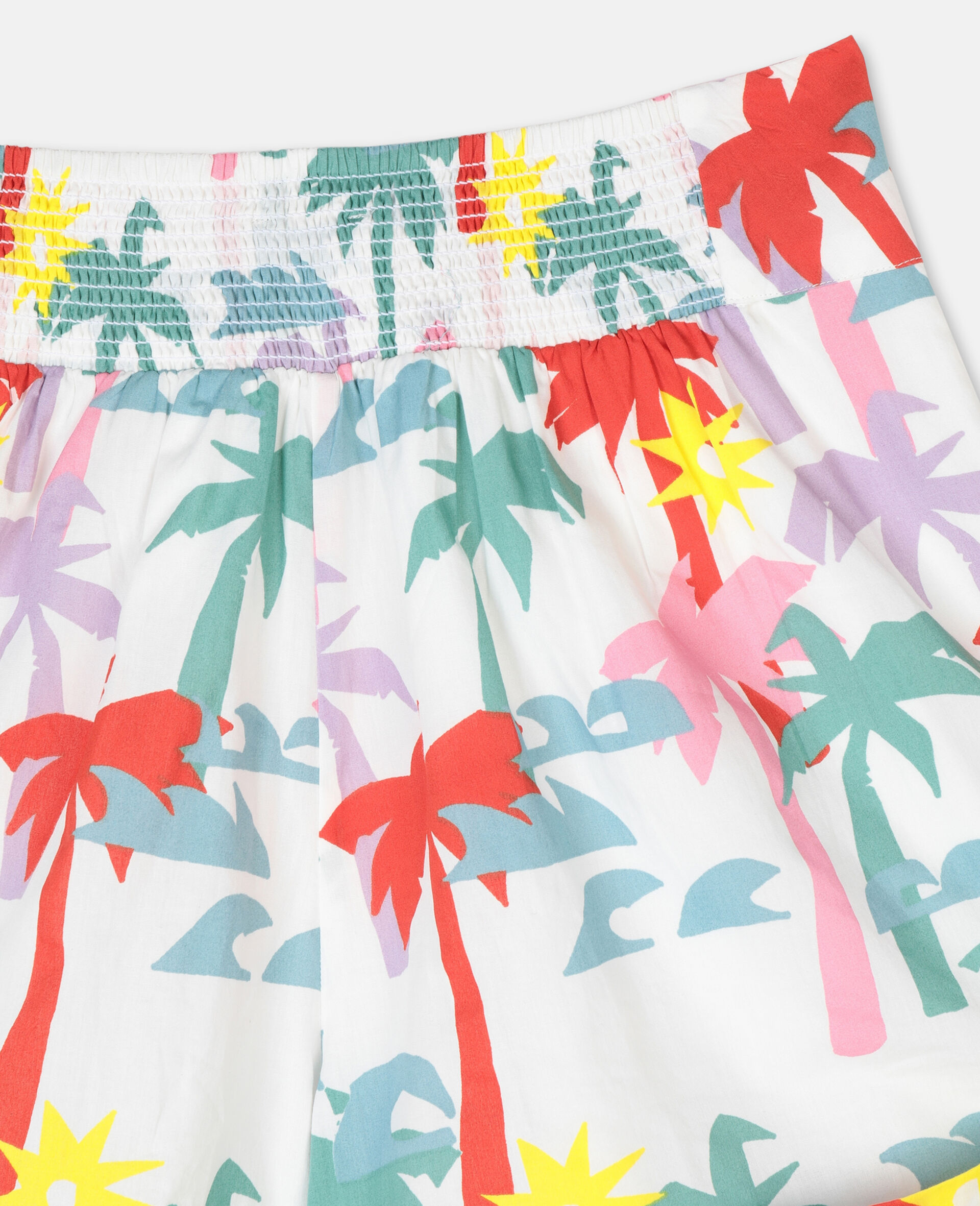 Palm Cotton Shorts-Multicolour-large image number 2