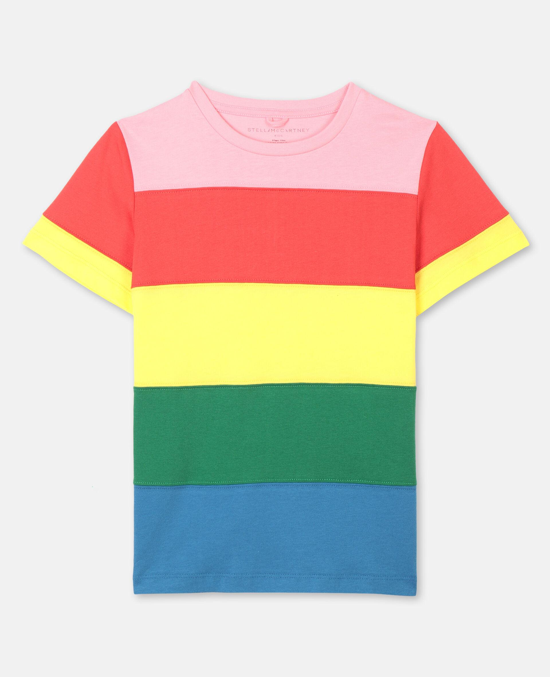 Striped Cotton T-shirt-Multicolour-large image number 0