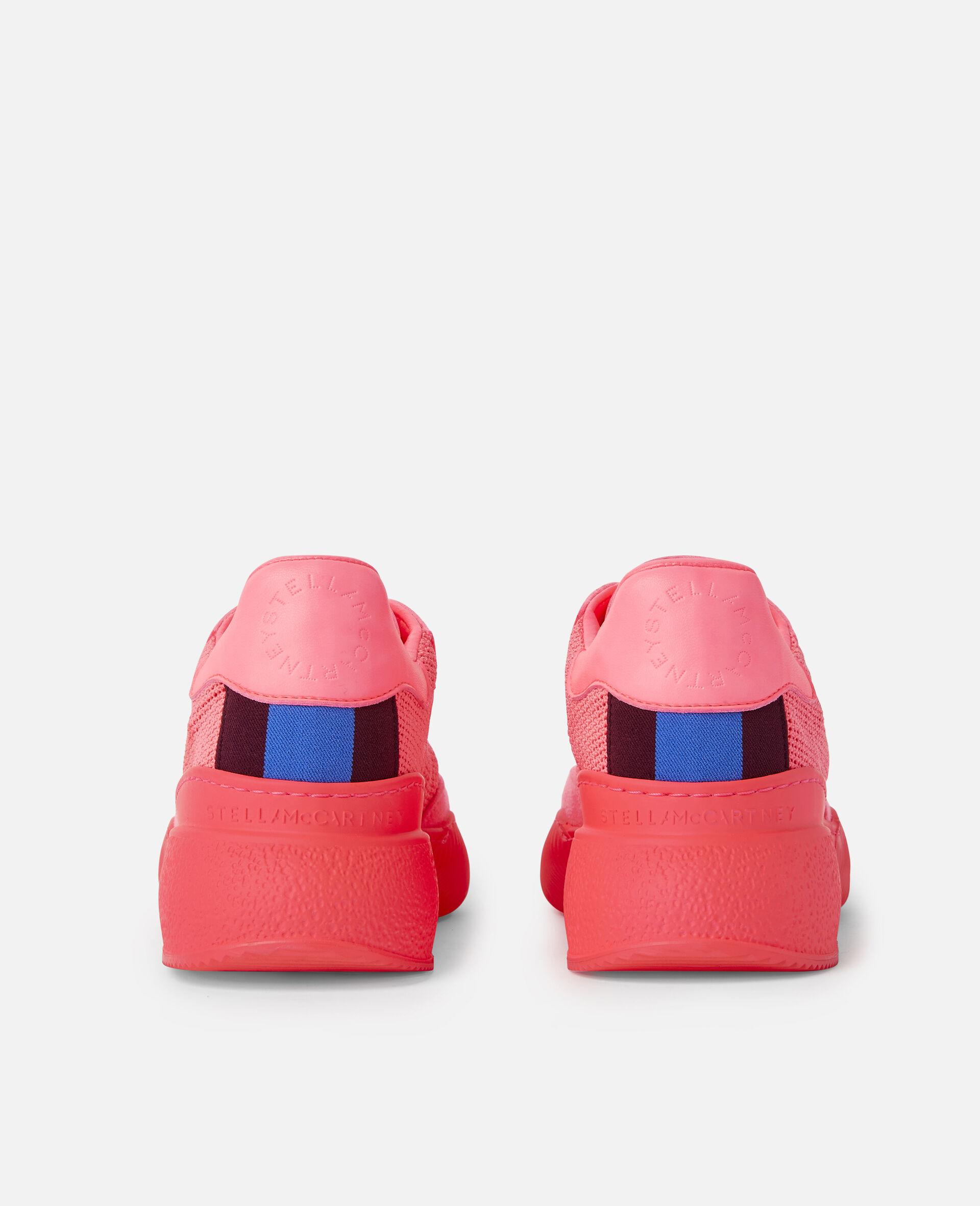 Loop Square Mesh Sneakers -Pink-large image number 2