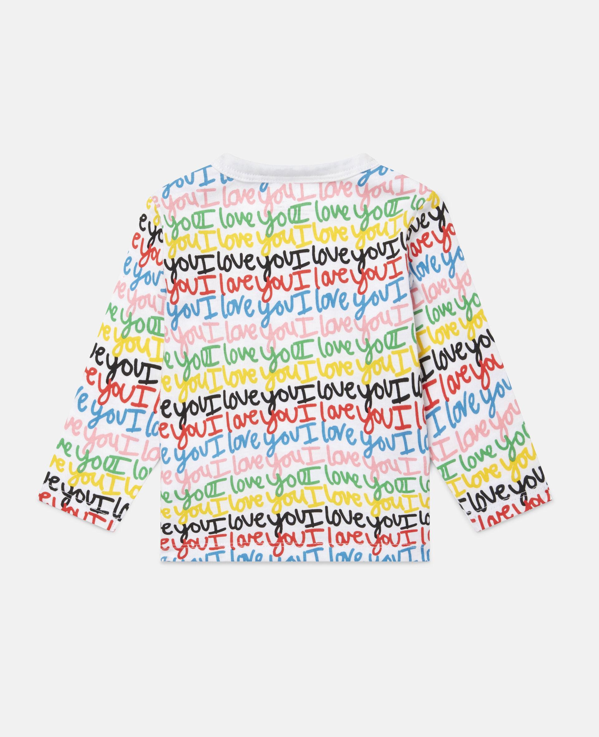 Top aus Baumwolle mit 'Love You'-Print-Bunt-large image number 3