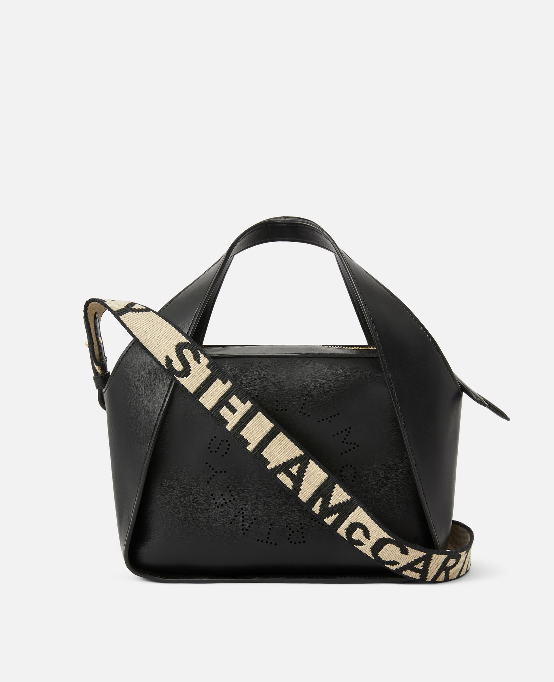 Tote Bag Stella Logo con Tracolla -Nero-large image number 1